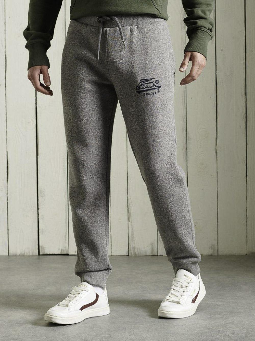 SUPERDRY Παντελόνι φόρμας M7010511A-QOG ΓΡΑΦΙΤΗΣ