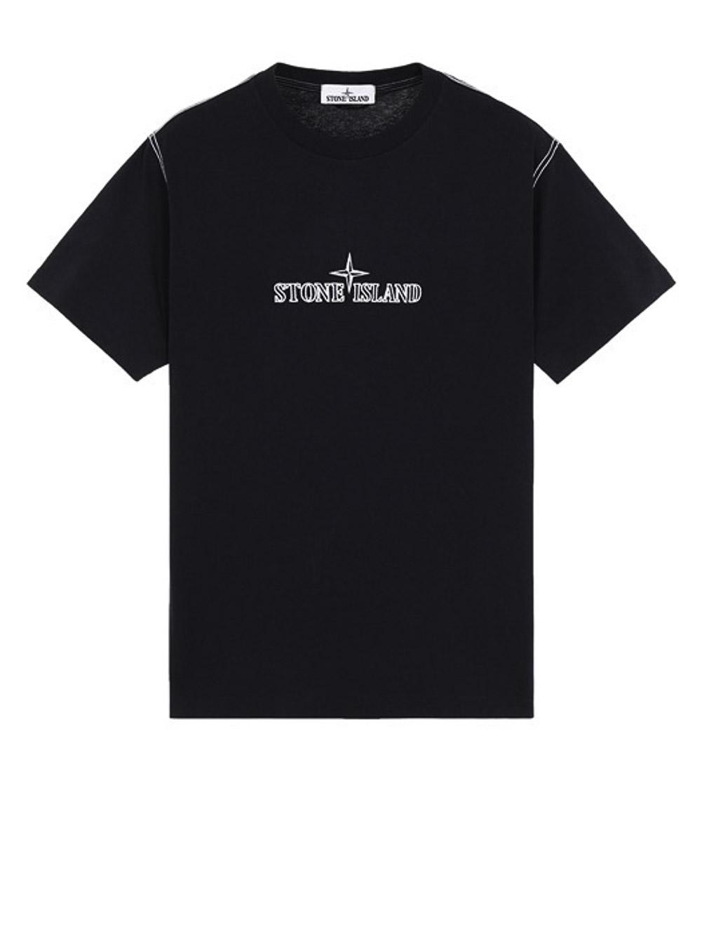 STONE ISLAND Μπλούζα T-Shirt MO741520644-V0020 ΜΑΥΡΟ