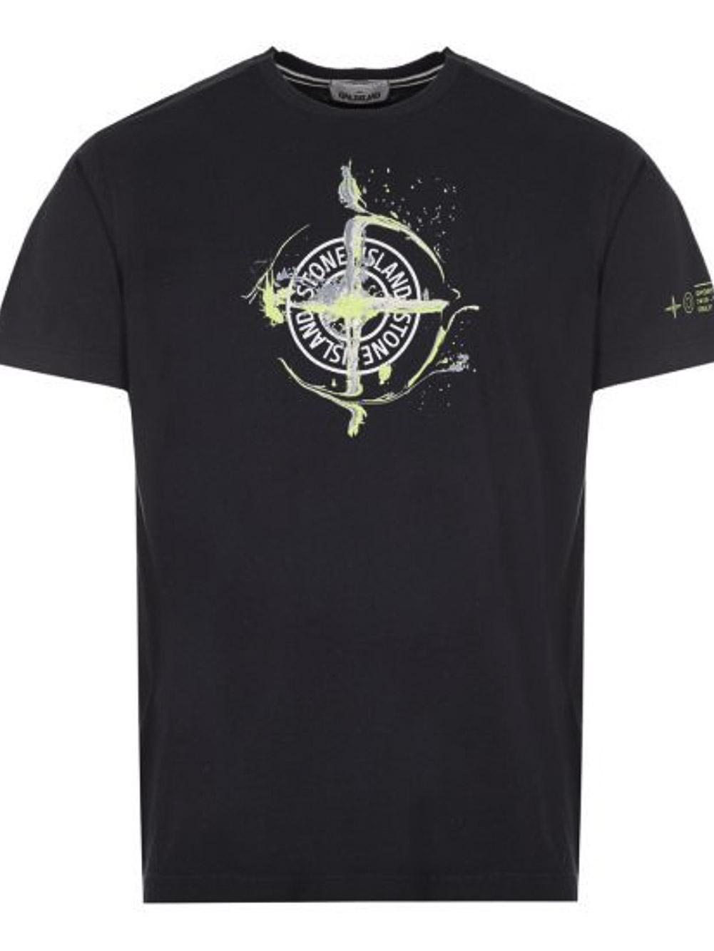 STONE ISLAND Μπλούζα T-Shirt MO74152NS83-V0020 ΜΑΥΡΟ
