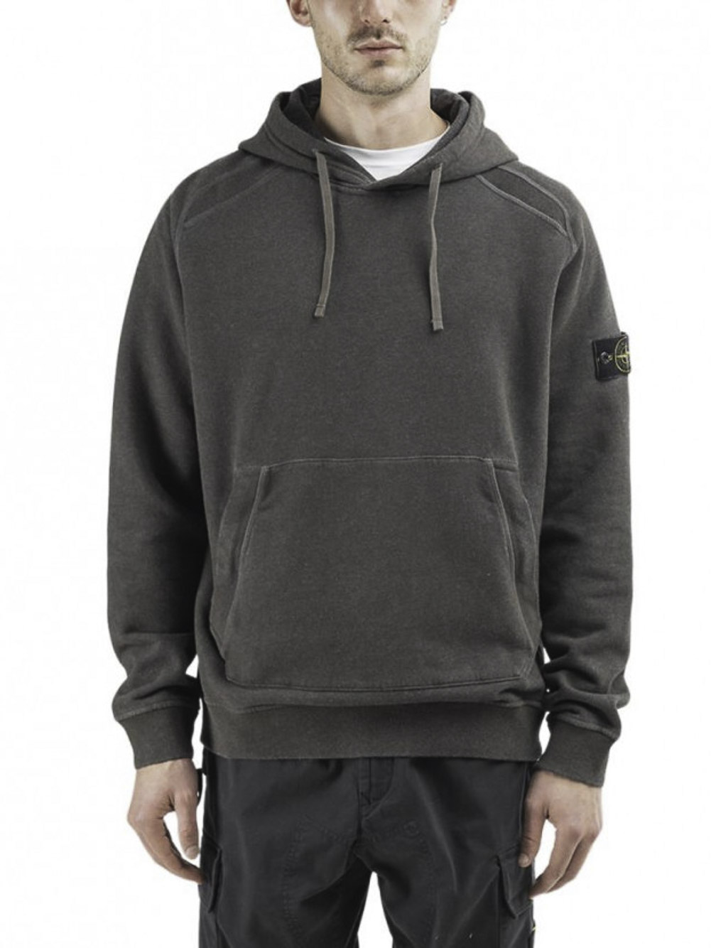 STONE ISLAND Μπλούζα φούτερ με κουκούλα MO731562090-V2M71 ΚΑΦΕ
