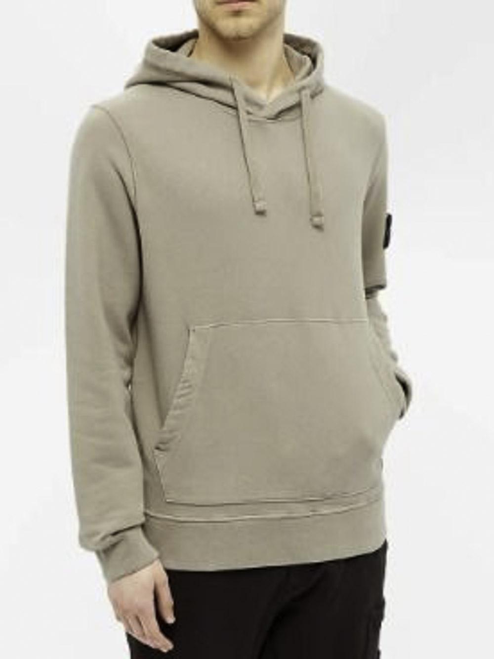 STONE ISLAND Μπλούζα φούτερ με κουκούλα MO731564120-V0068 ΜΠΕΖ