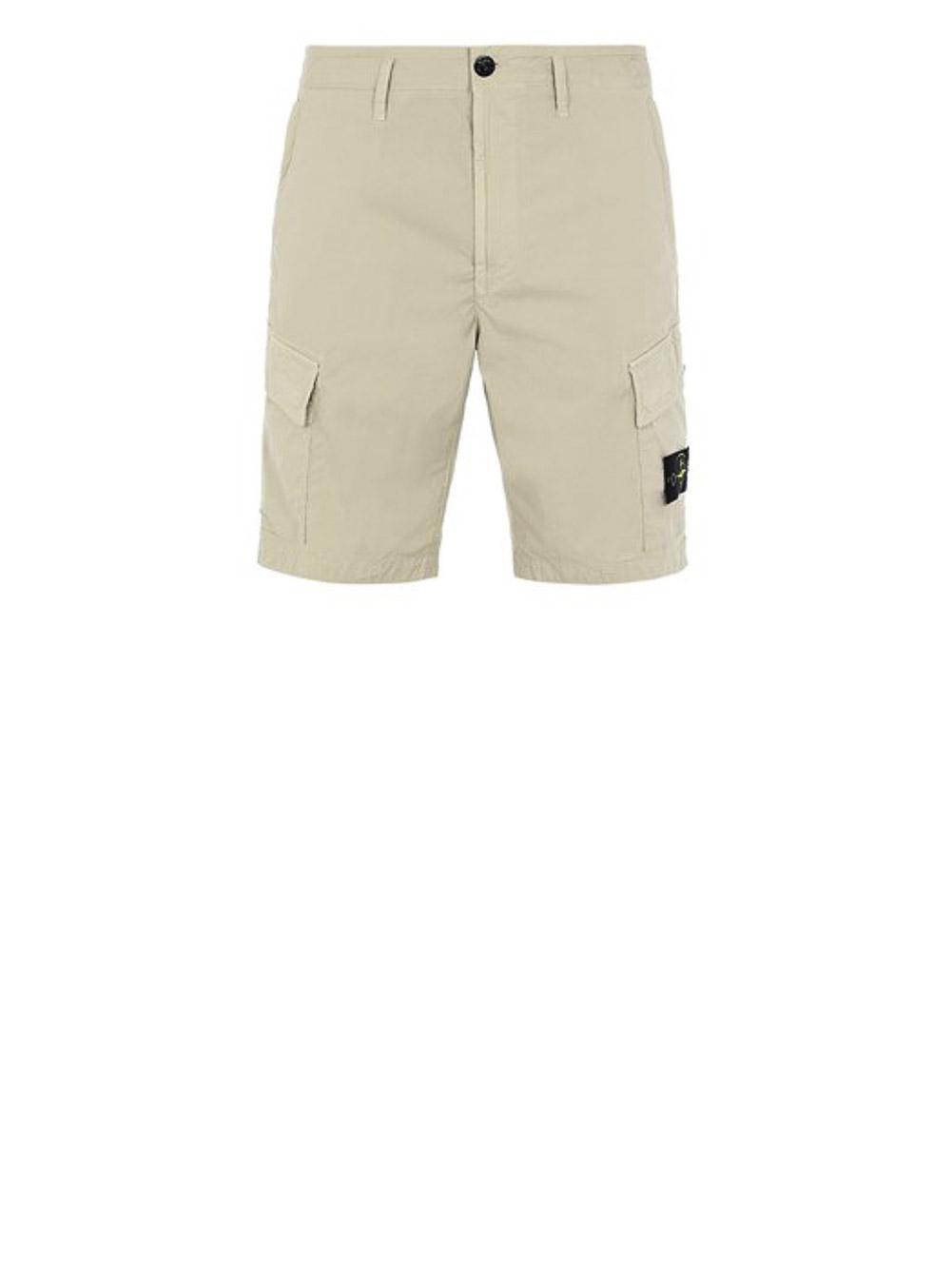 STONE ISLAND Βερμούδα με πλαινές τσέπες MO7415L0803-V0095 ΚΑΦΕ