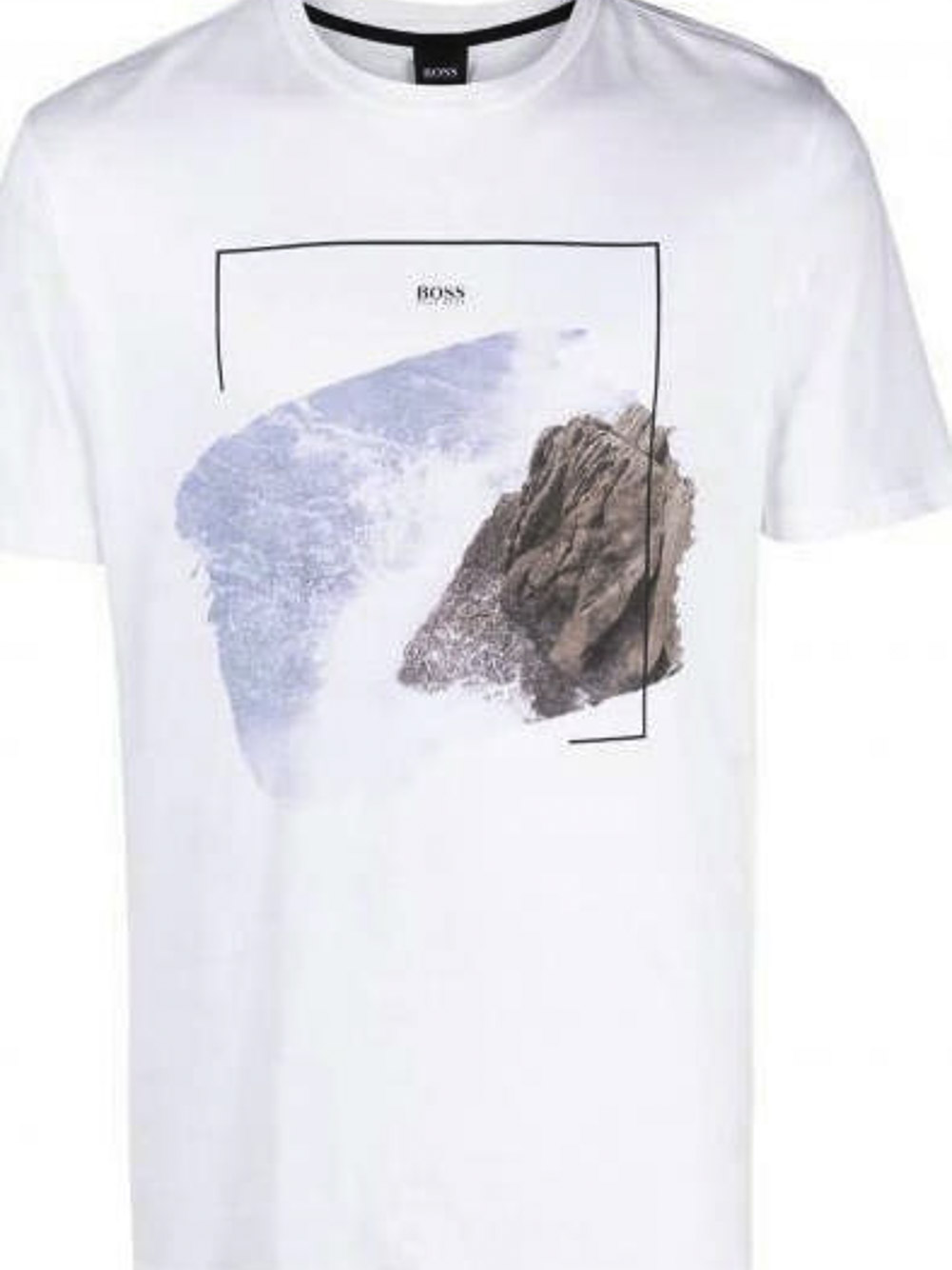 BOSS Μπλούζα t-shirt 50450898-100 ΕΚΡΟΥ