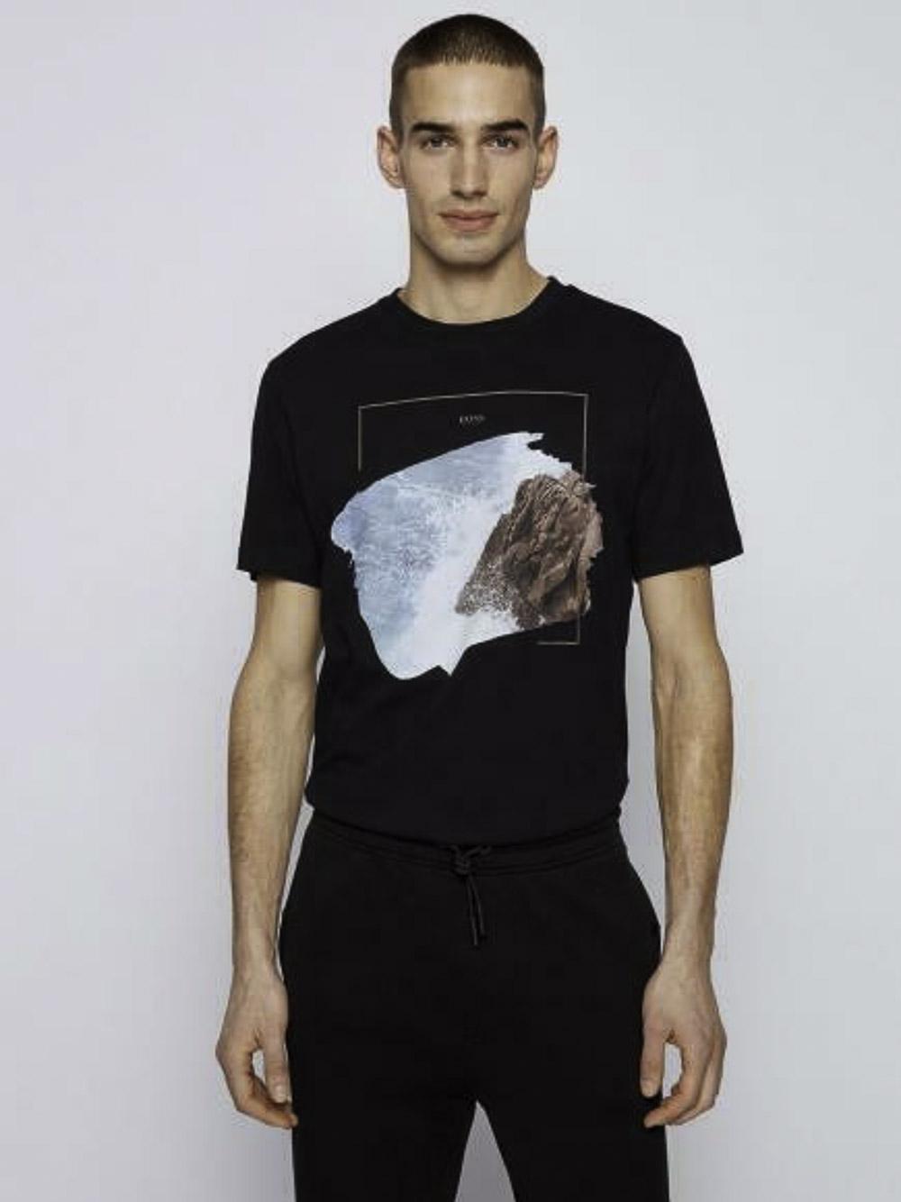 BOSS Μπλούζα t-shirt 50450898-404 ΜΠΛΕ ΣΚΟΥΡΟ