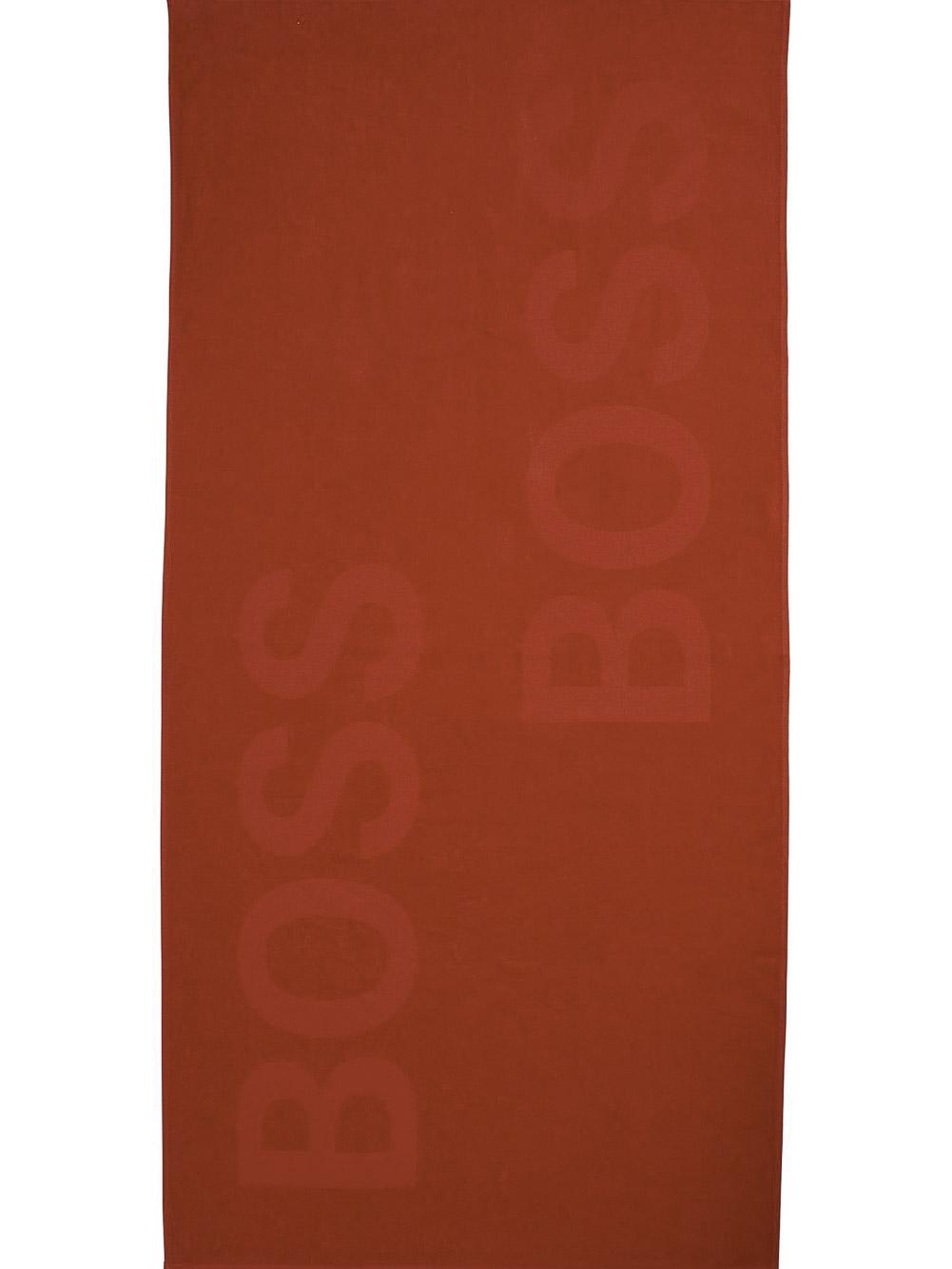 BOSS Beach Towel Solid 50446614-628 ΚΟΚΚΙΝΟ