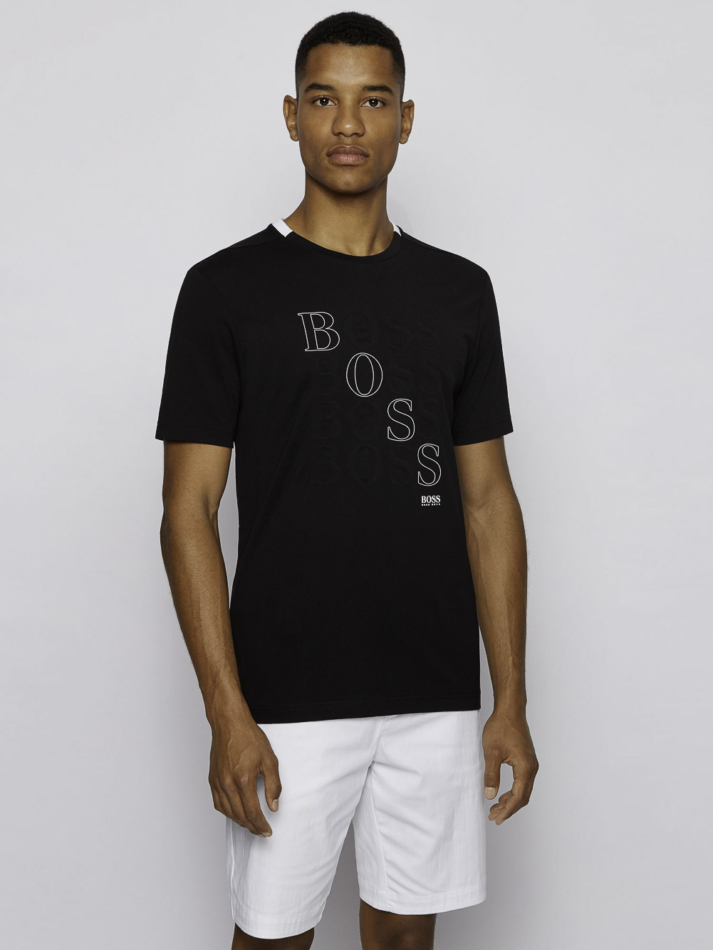 BOSS Μπλούζα t-shirt 50447948-001 ΜΑΥΡΟ