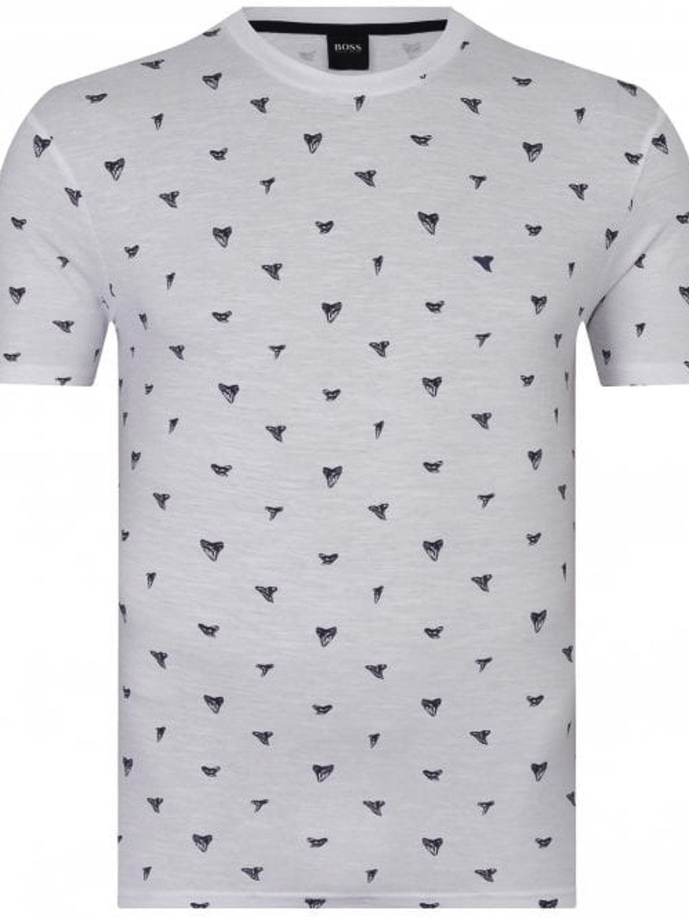 BOSS Μπλούζα t-shirt 50448161-100 ΛΕΥΚΟ