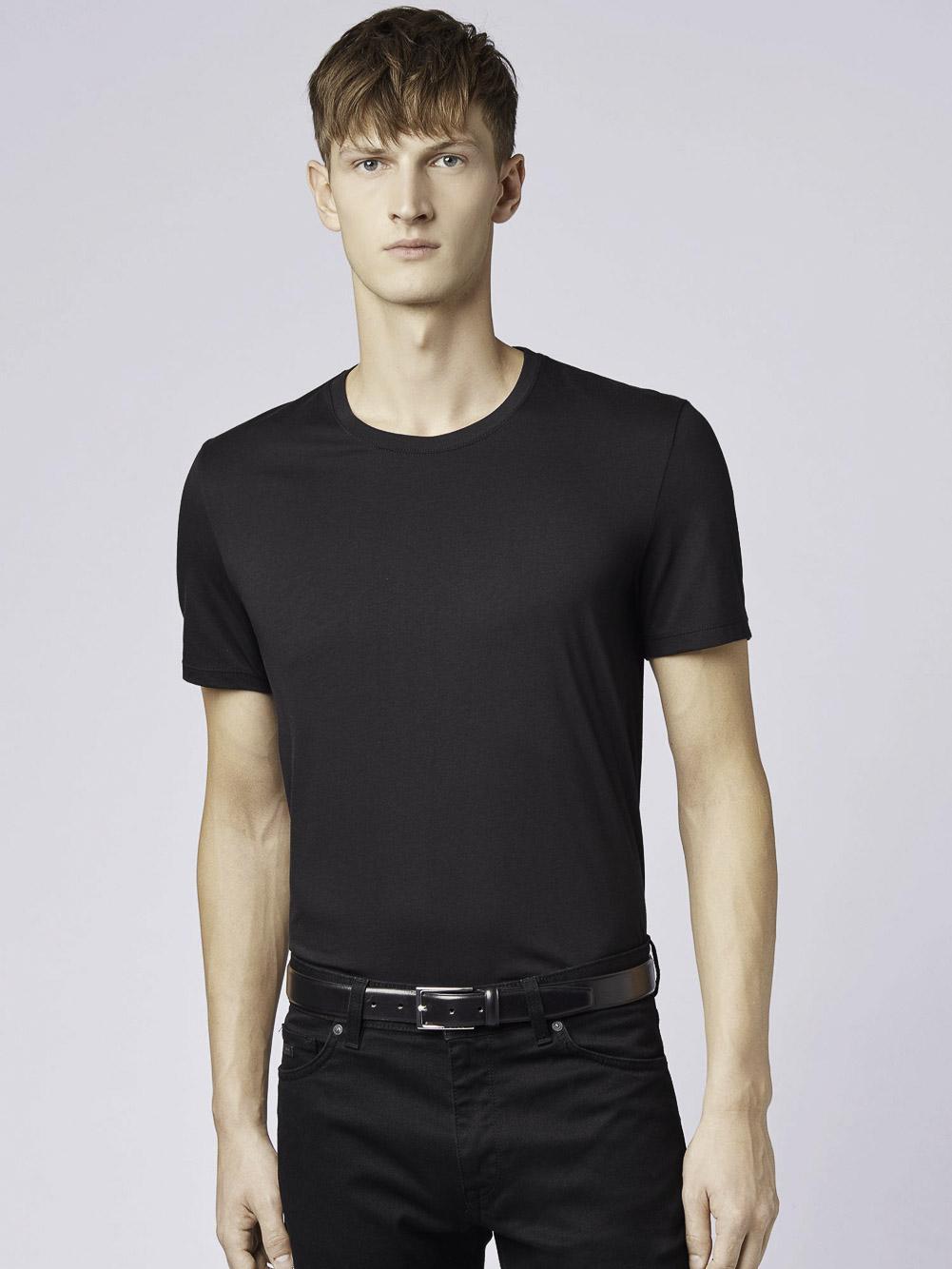 BOSS Μπλούζα t-shirt 50379310-001 ΜΑΥΡΟ