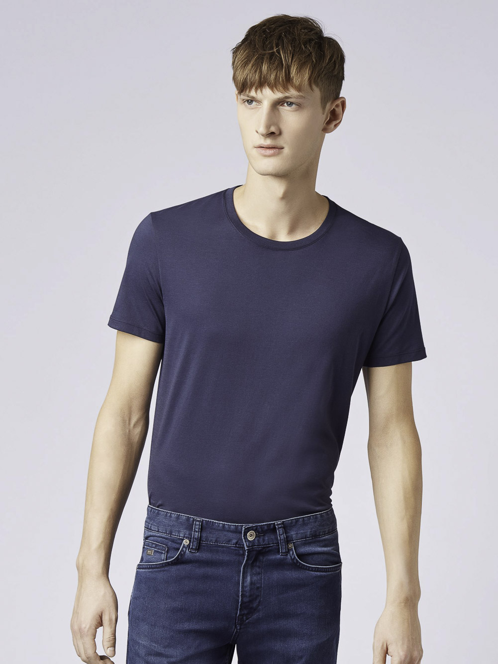 BOSS Μπλούζα t-shirt 50379310-402 ΜΠΛΕ ΣΚΟΥΡΟ