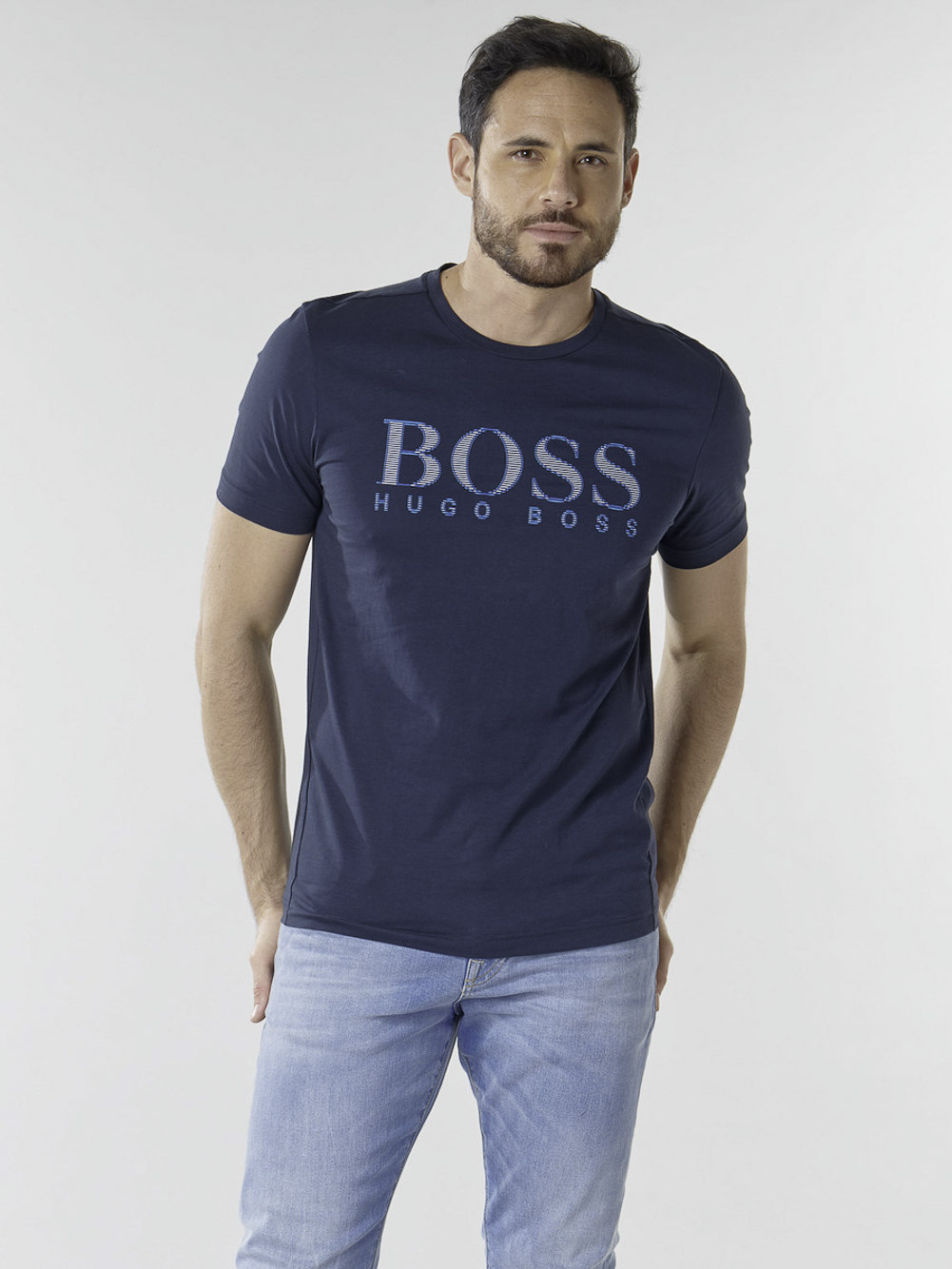 BOSS Μπλούζα t-shirt 50448306-410 ΜΠΛΕ
