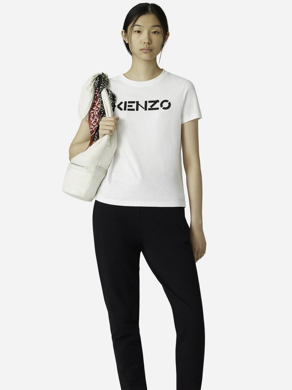 KENZO Μπλούζα t-shirt 2TS8414SJ-01B ΕΚΡΟΥ