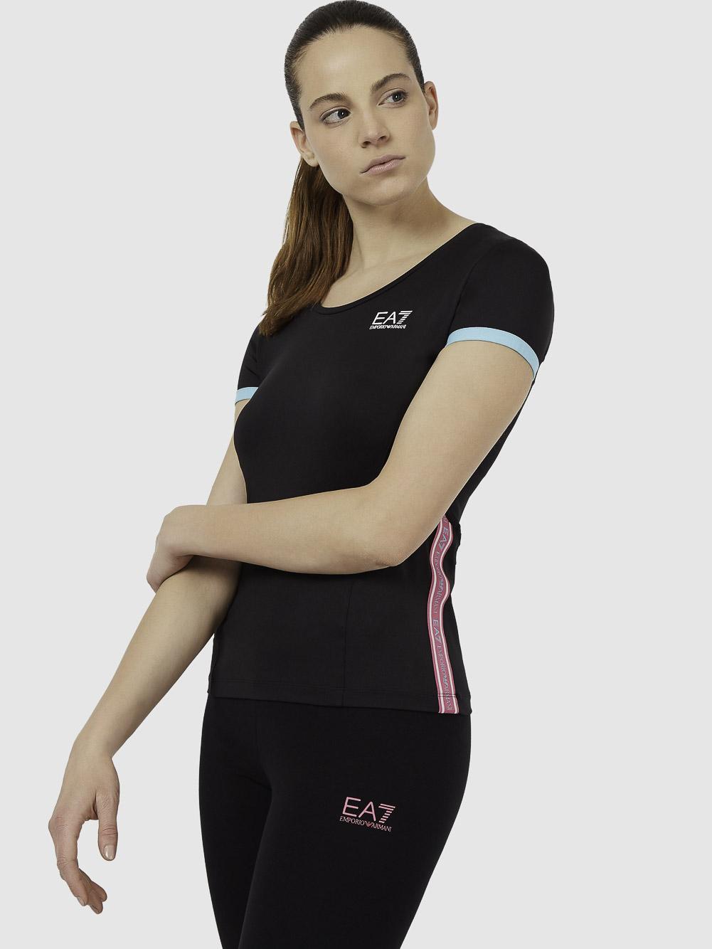 EMPORIO ARMANI Μπλούζα t-shirt 3KTT10TJ56Z-1200 ΜΑΥΡΟ