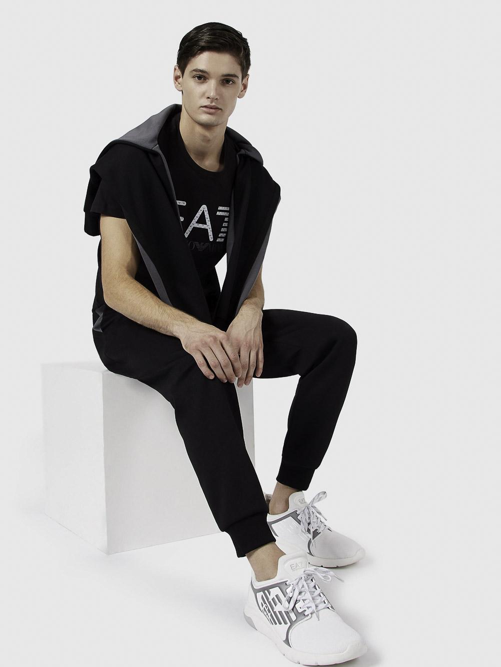 EMPORIO ARMANI Μπλούζα t-shirt 3KPT12PJ7CZ-1200 ΜΑΥΡΟ