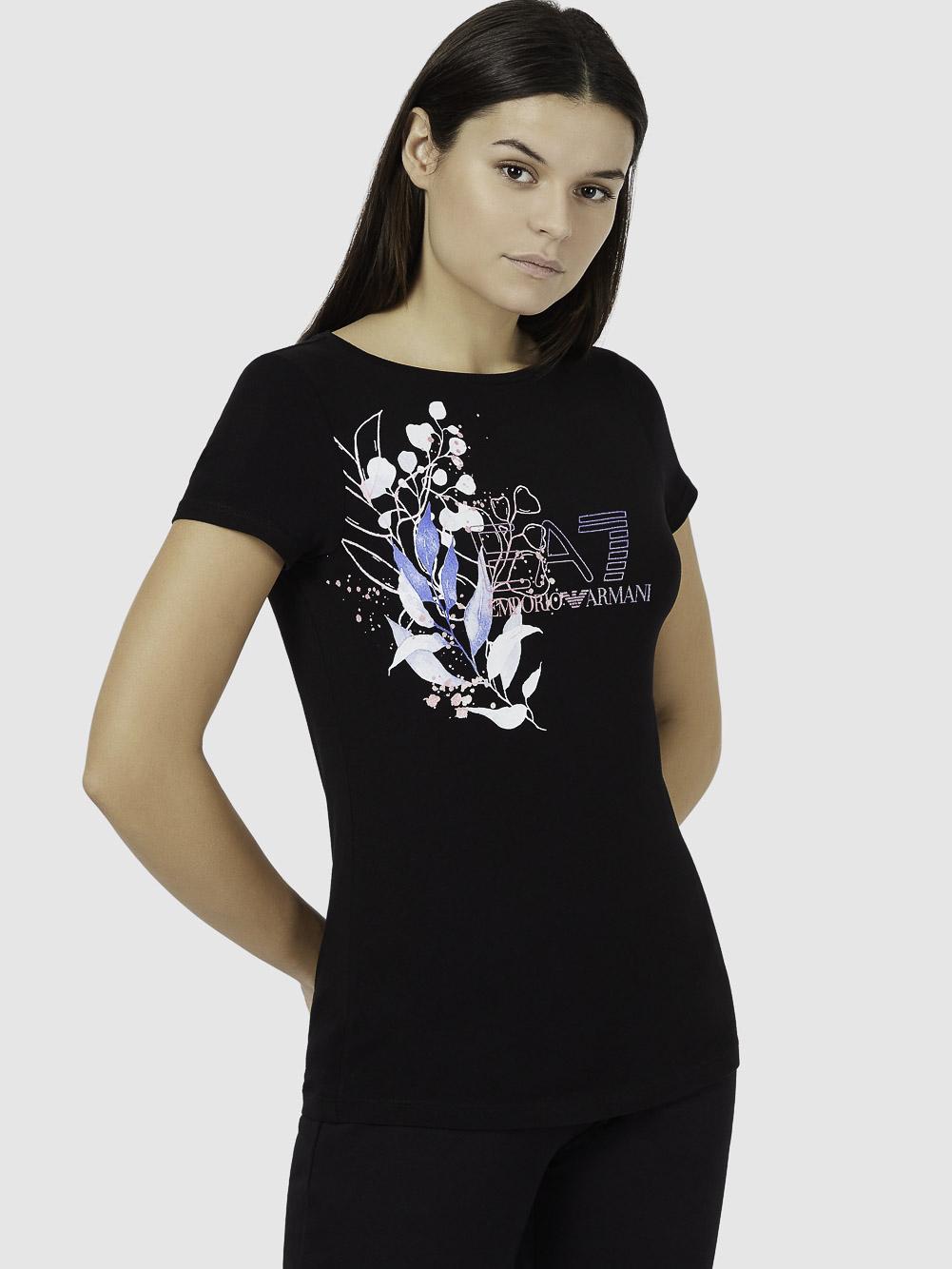 EMPORIO ARMANI Μπλούζα t-shirt 3KTT46TJ12Z-1200 ΜΑΥΡΟ