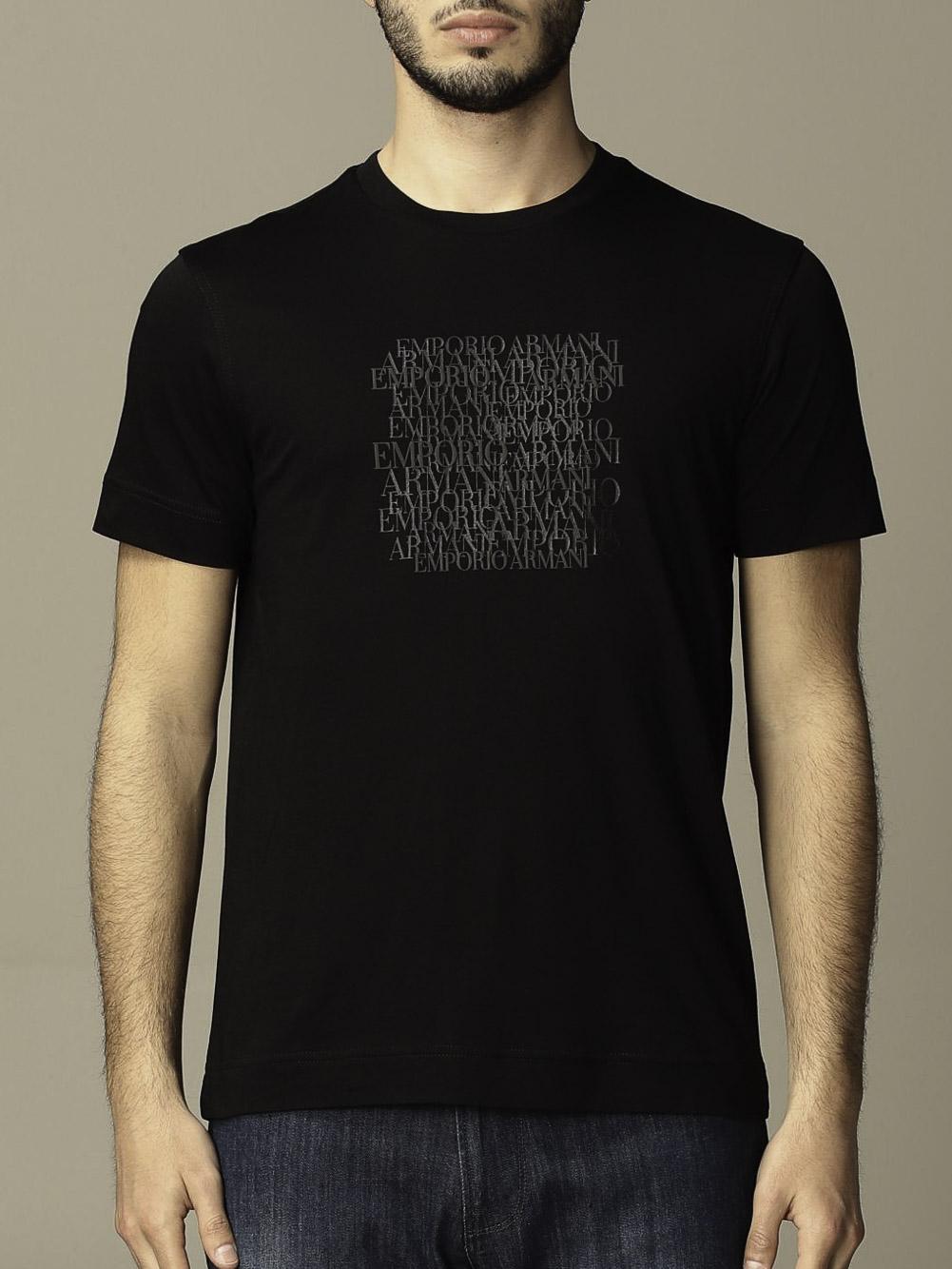 EMPORIO ARMANI Μπλούζα t-shirt 3K1TD61JSHZ-0999 ΜΑΥΡΟ