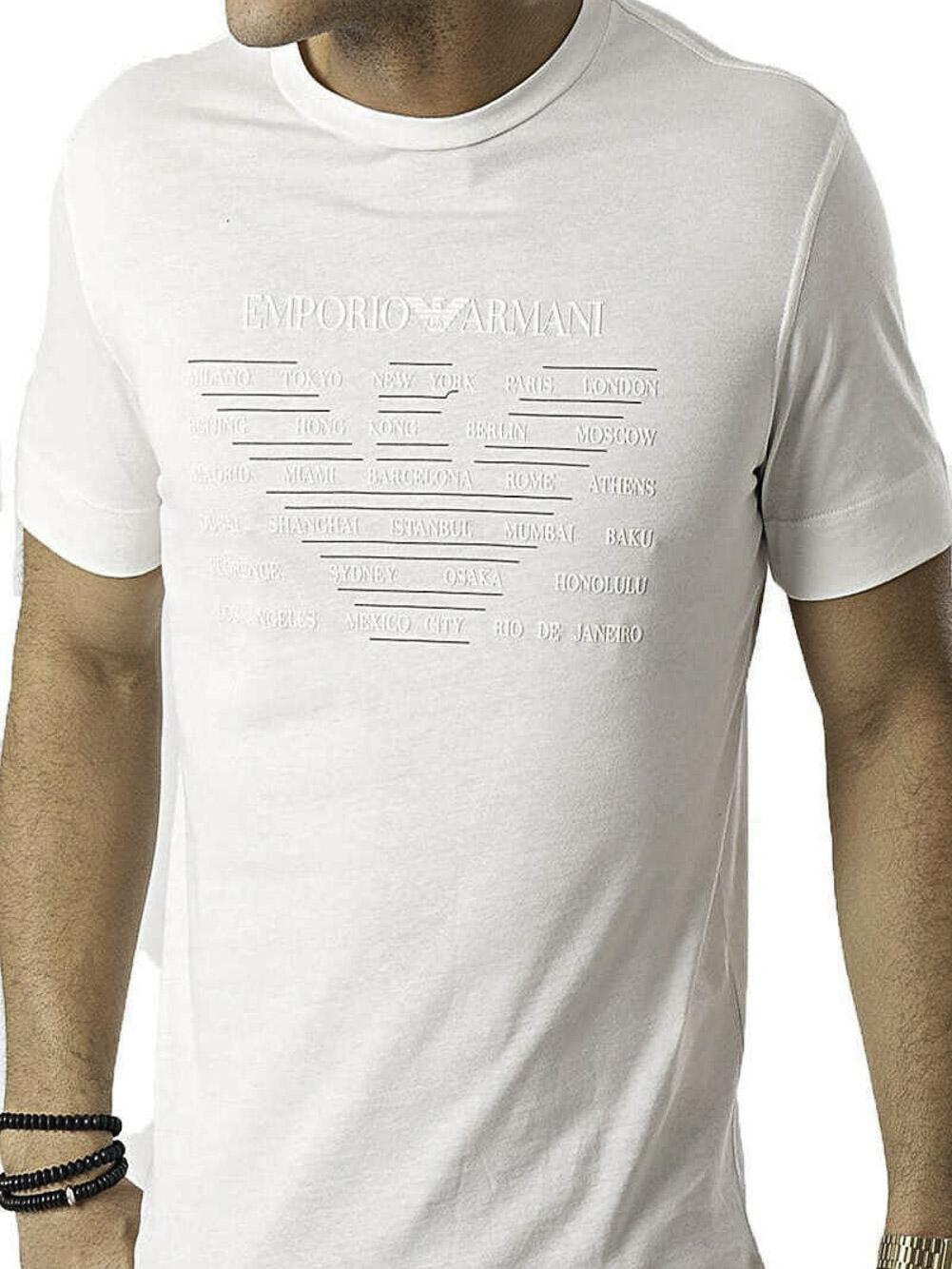 EMPORIO ARMANI Mπλούζα t-shirt 3K1TE11JULZ-0101 ΕΚΡΟΥ