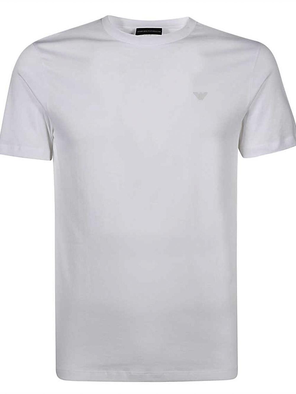 EMPORIO ARMANI Mπλούζα t-shirt 3K1TAT1JSHZ-0100 ΛΕΥΚΟ