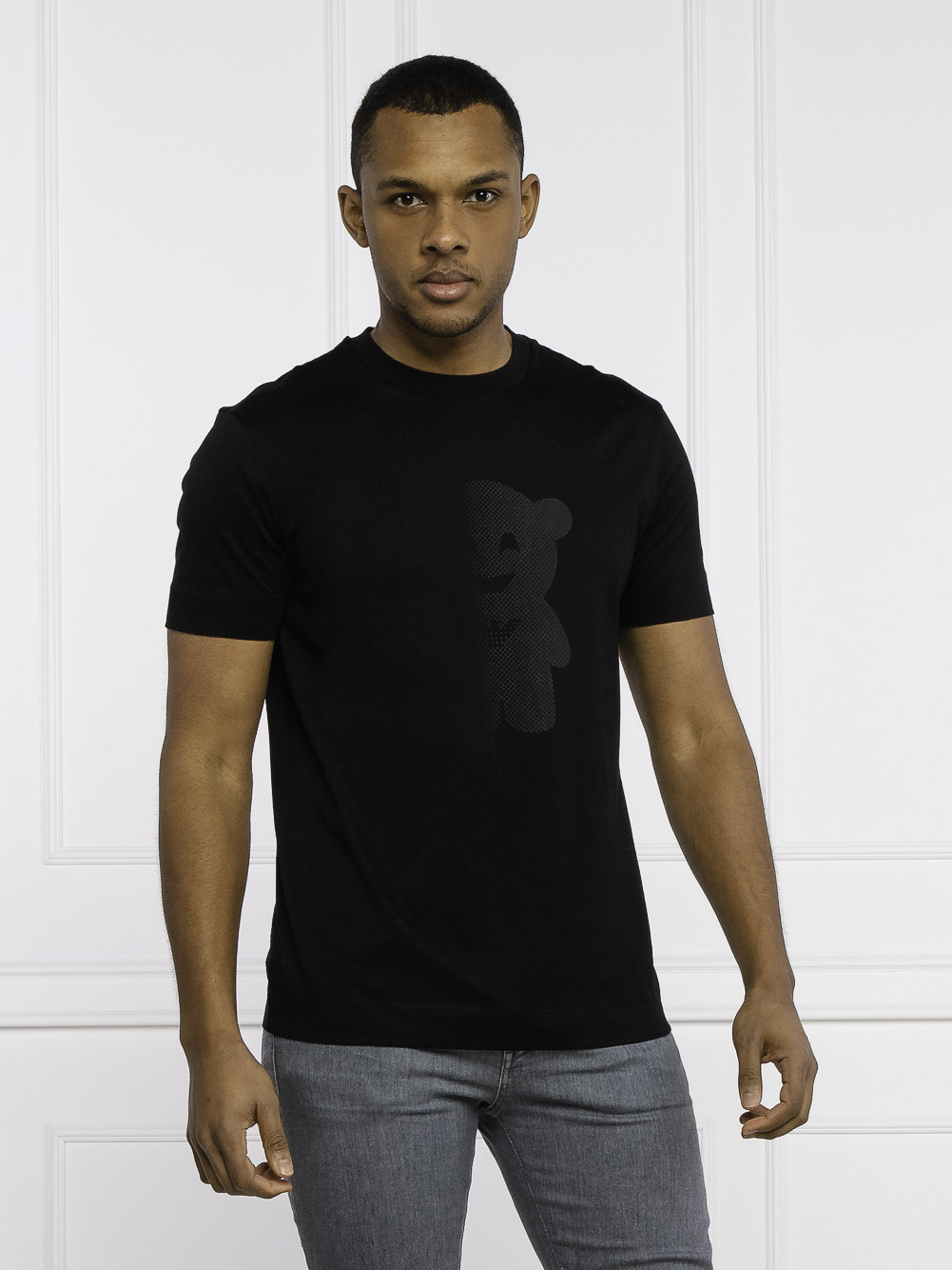 EMPORIO ARMANI Μπλούζα t-shirt 3K1TAL1JTUZ-0999 ΜΑΥΡΟ