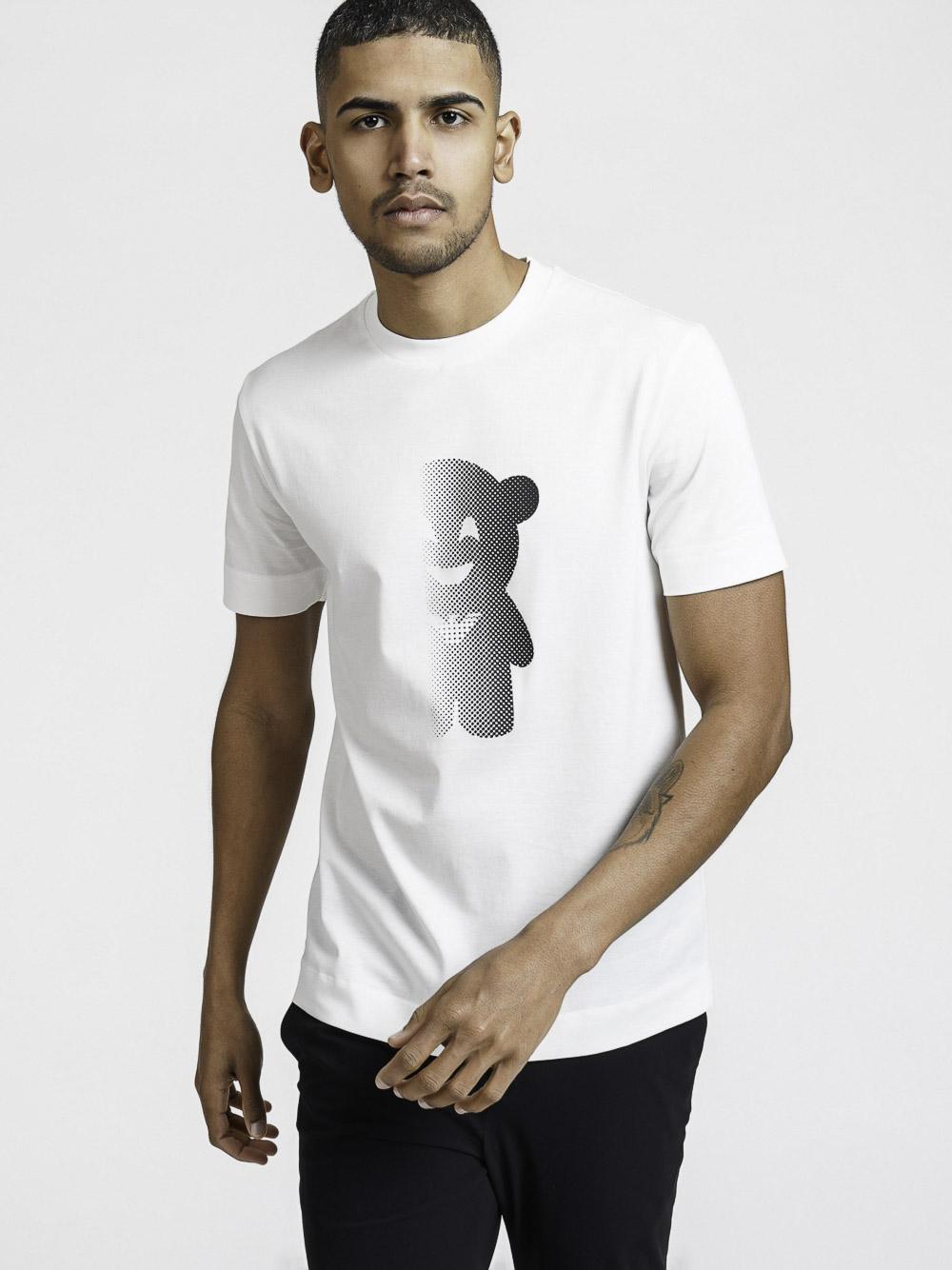 EMPORIO ARMANI Μπλούζα t-shirt 3K1TAL1JTUZ-0101 ΕΚΡΟΥ