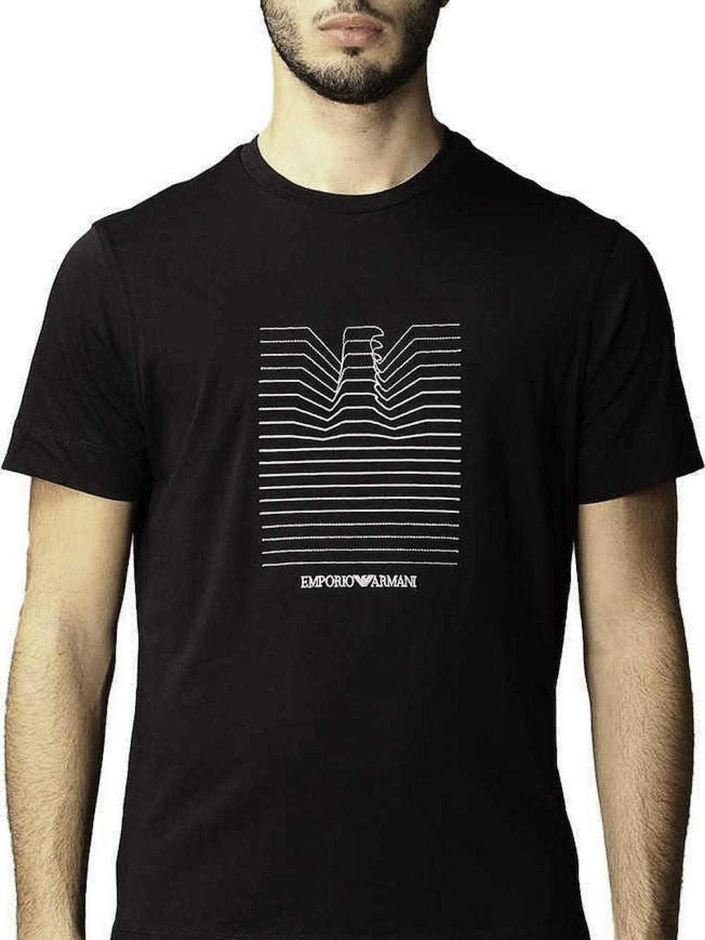 EMPORIO ARMANI Μπλούζα t-shirt 3K1TL81JULZ-0920 ΜΠΛΕ