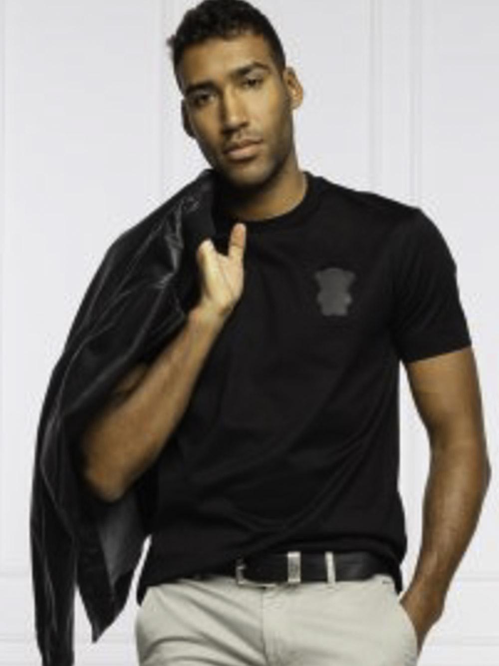 EMPORIO ARMANI Μπλούζα t-shirt 3K1TAN1JTUZ-0999 ΜΑΥΡΟ