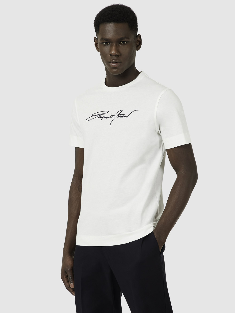 EMPORIO ARMANI Μπλούζα t-shirt 3K1TL61JULZ-0101 ΕΚΡΟΥ