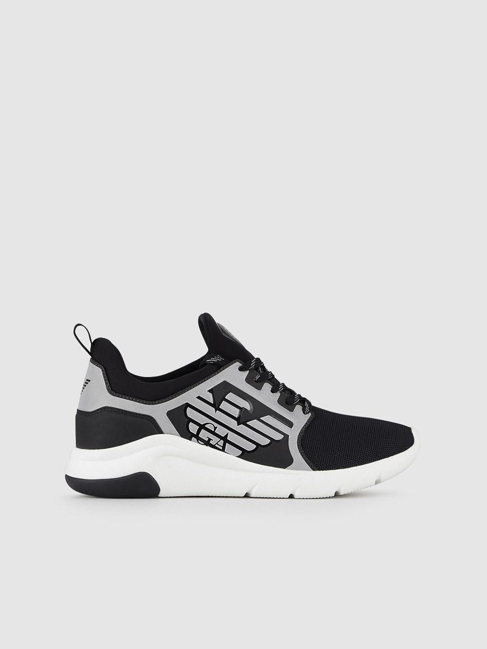 EMPORIO ARMANI Παπούτσια Sneaker X8X057XCC55-N629 ΜΑΥΡΟ ΑΣΗΜΙ