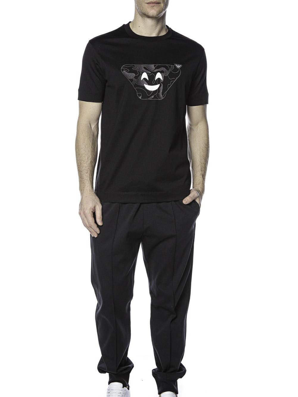 EMPORIO ARMANI Μπλούζα t-shirt 3K1TAQ1JTUZ-0999 ΜΑΥΡΟ