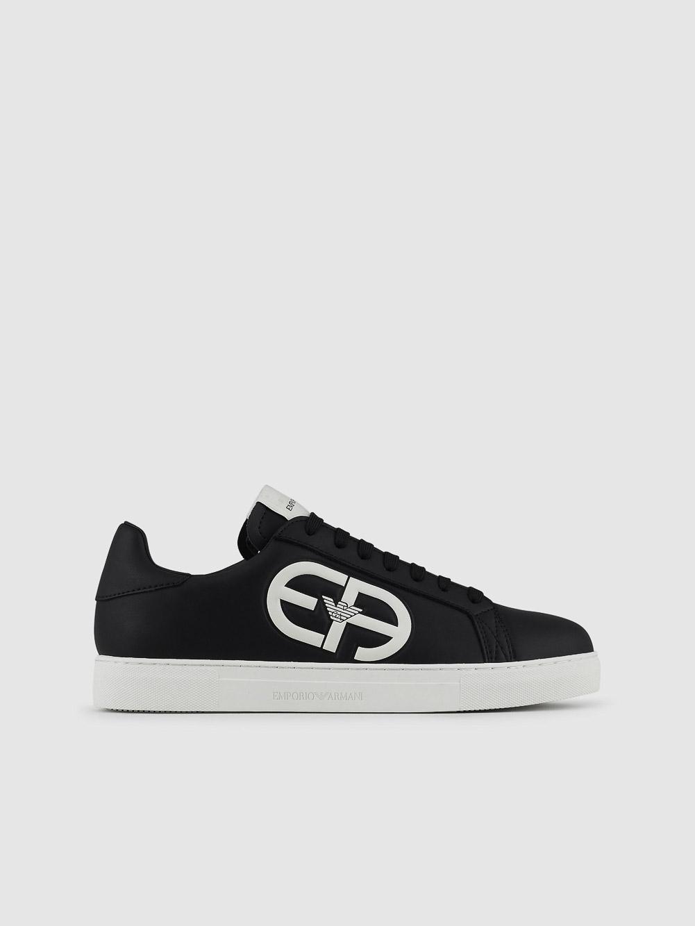 EMPORIO ARMANI Παπούτσια Sneaker X4X540XM782-N814 ΜΑΥΡΟ ΛΕΥΚΟ