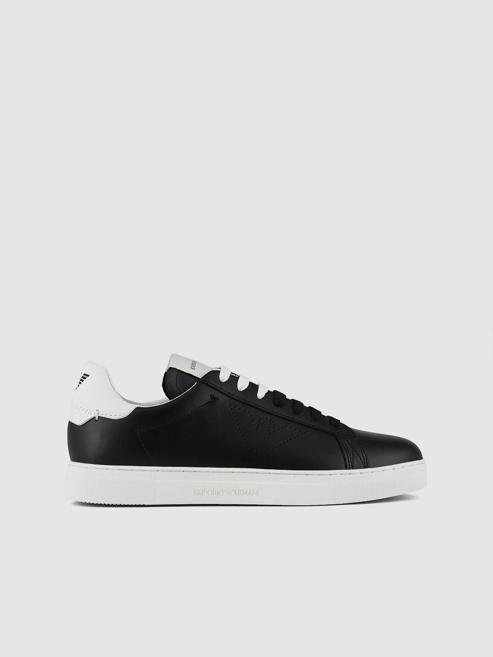 EMPORIO ARMANI Παπούτσια Sneaker X4X316XF527-N642 ΜΑΥΡΟ ΛΕΥΚΟ