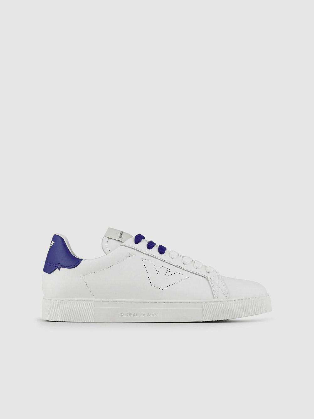 EMPORIO ARMANI Παπούτσια Sneaker X4X316XF527-Q070 ΛΕΥΚΟ ΜΠΛΕ