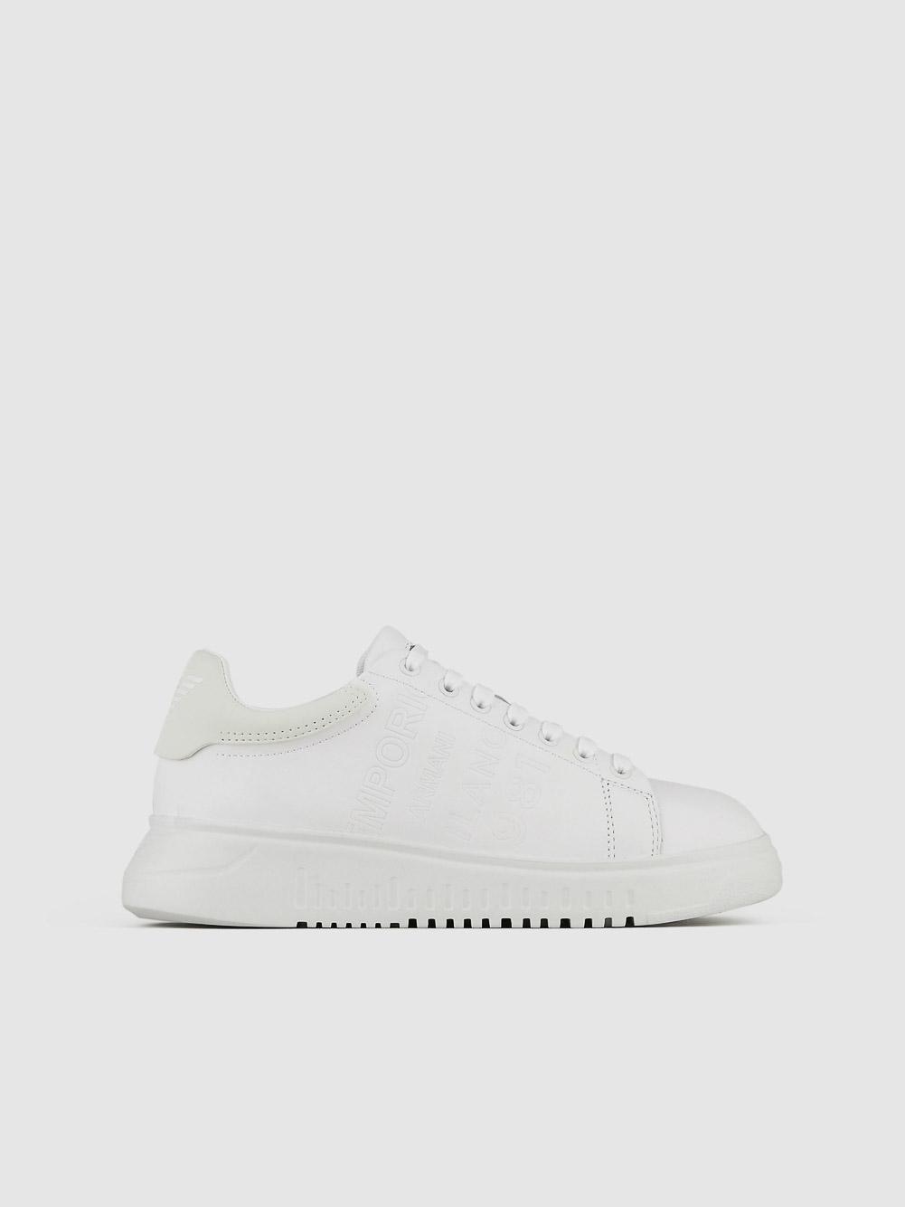 EMPORIO ARMANI Παπούτσια sneakers X3X070XF526-A169 ΛΕΥΚΟ