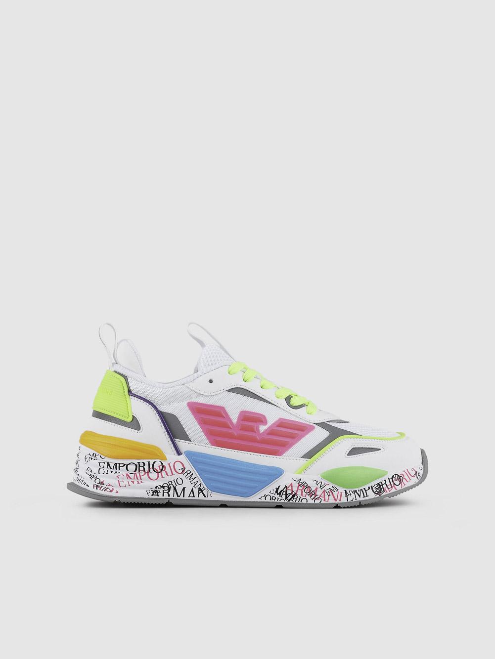EMPORIO ARMANI Παπούτσια sneaker X3X126XM540-T376 ΛΕΥΚΟ ΡΟΖ
