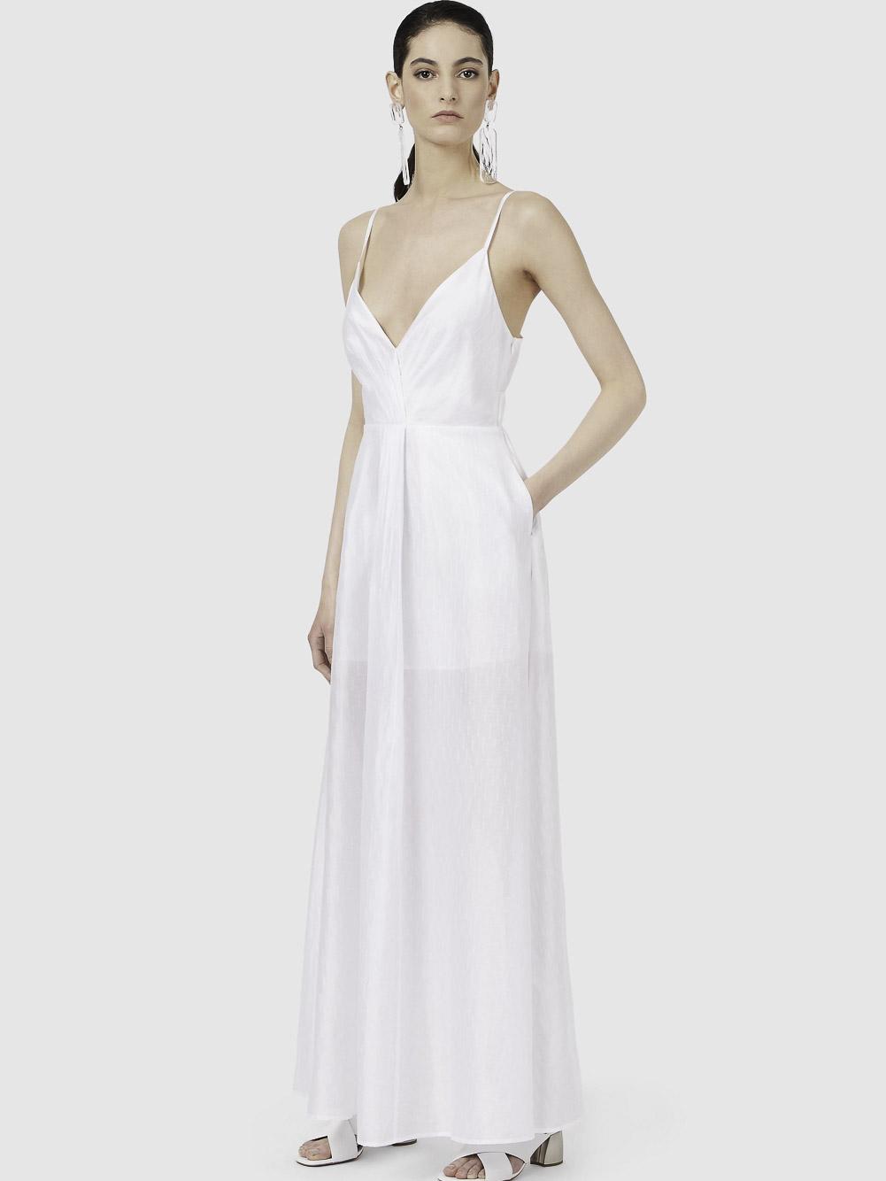 EMPORIO ARMANI Φόρεμα maxi 3K2A882NLIZ-0100 ΛΕΥΚΟ