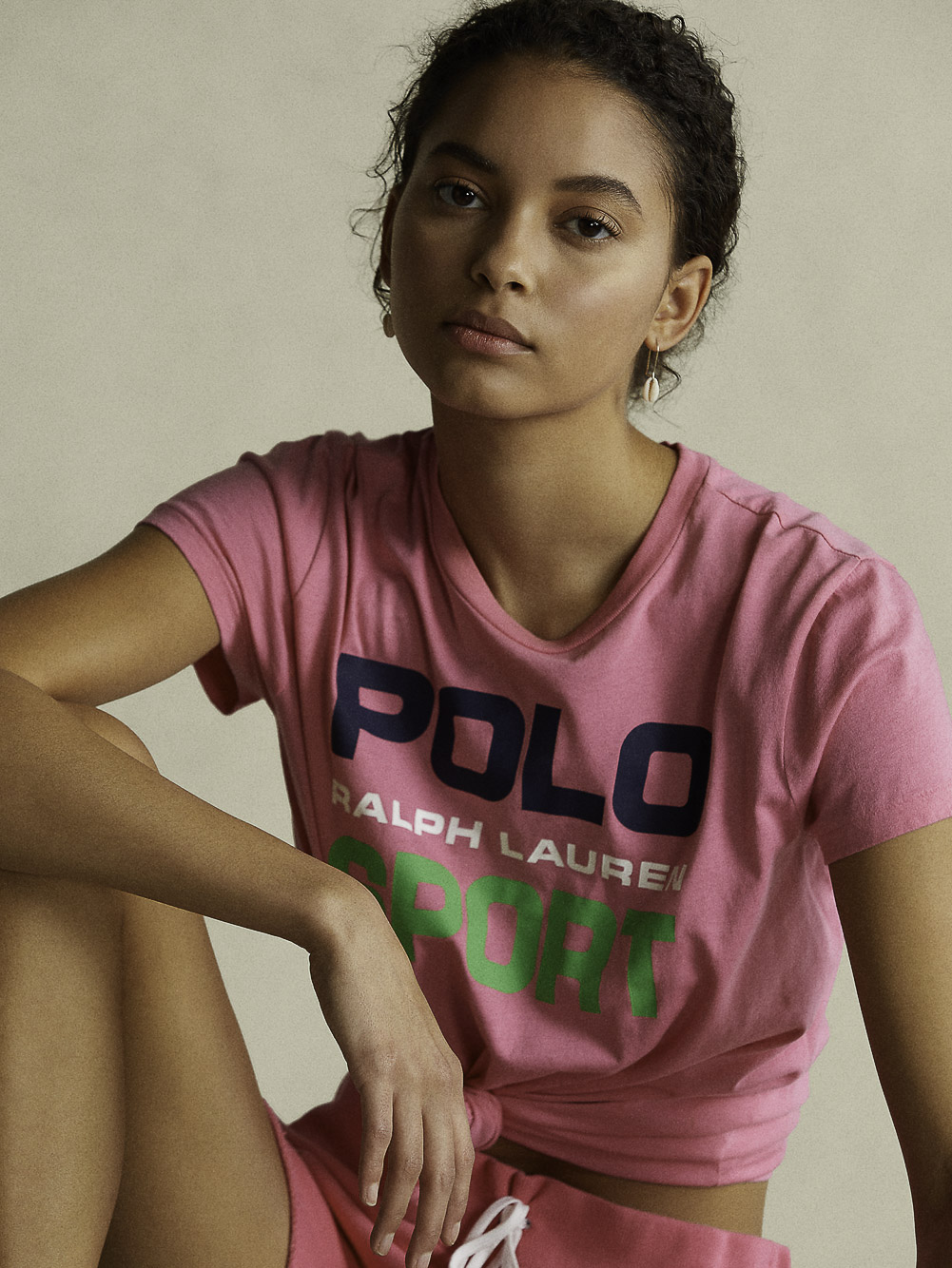 POLO RALPH LAUREN Μπλούζα T-Shirt 211838079005 ΡΟΖ