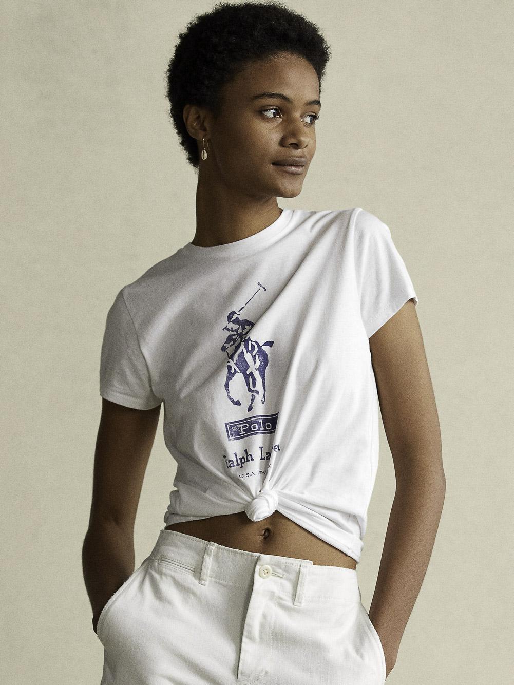 POLO RALPH LAUREN Μπλούζα T-Shirt 211838131002 ΛΕΥΚΟ
