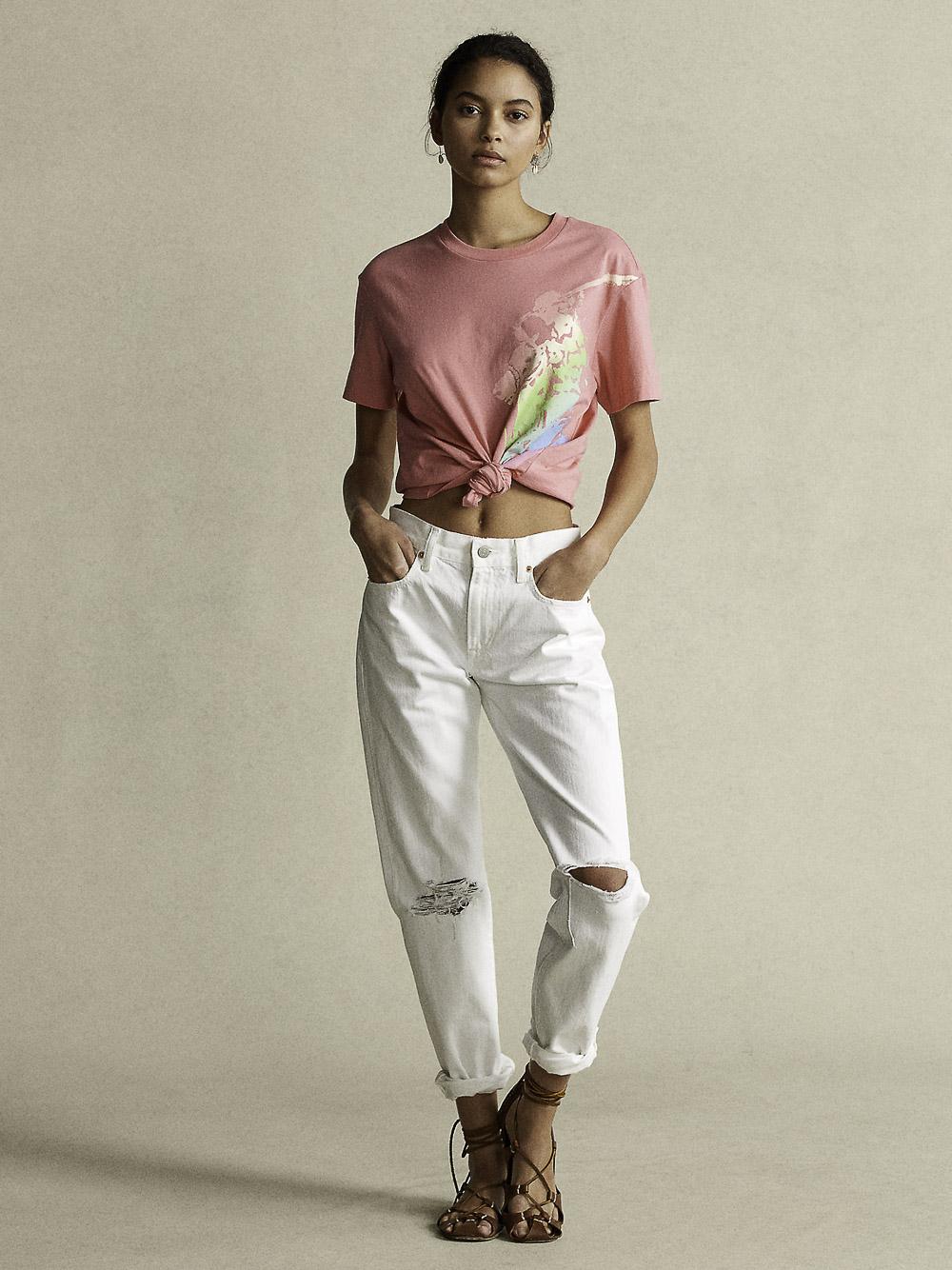 POLO RALPH LAUREN Μπλούζα T-Shirt 211838145001 ΡΟΖ