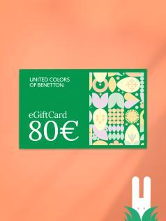 GIFT CARD benetton 80 €