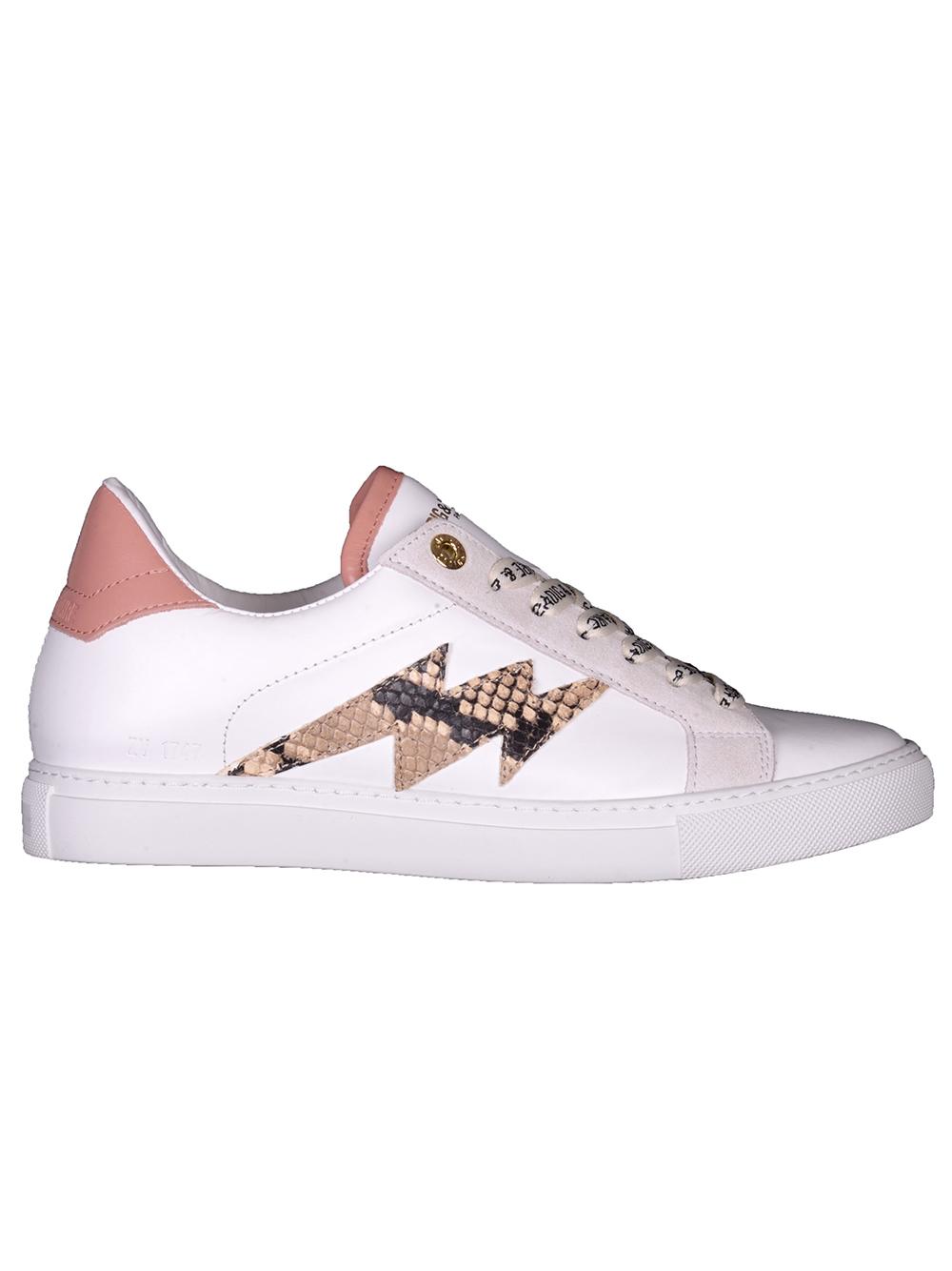 ZADIG & VOLTAIRE Παπούτσια sneakers SKAM1706F ΛΕΥΚΟ