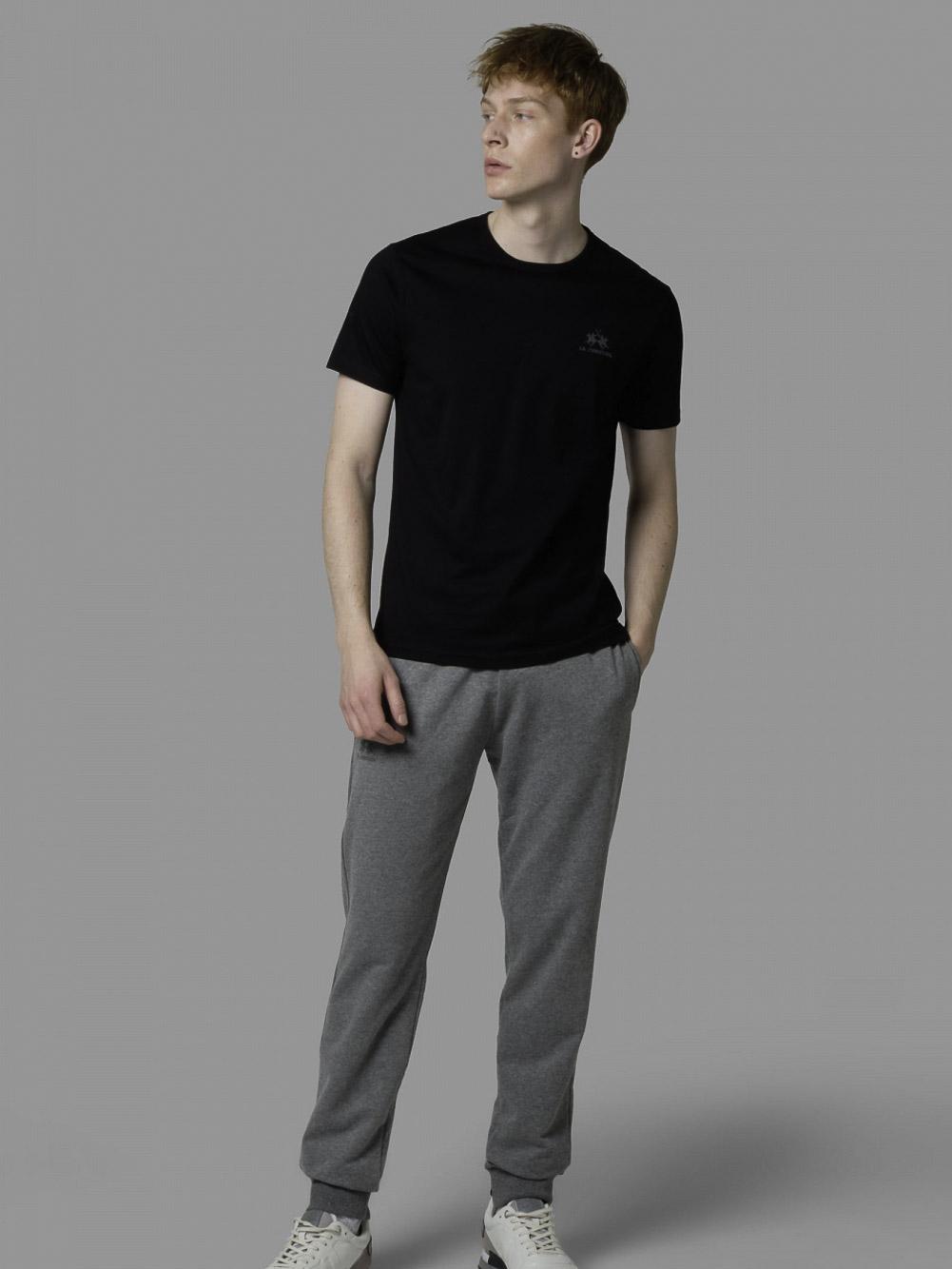 LA MARTINA Μπλούζα t-shirt 3LMCCMR02-9999 ΜΑΥΡΟ