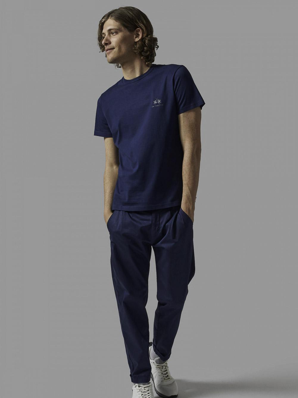 LA MARTINA Μπλούζα t-shirt 3LMCCMR02-7017 ΜΠΛΕ