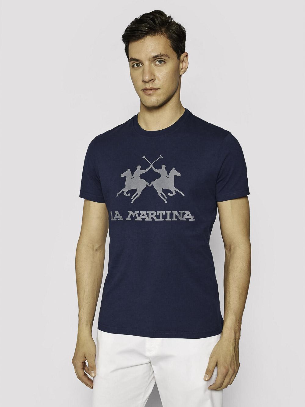LA MARTINA Μπλούζα t-shirt 3LMCCMR01-7017 ΜΠΛΕ