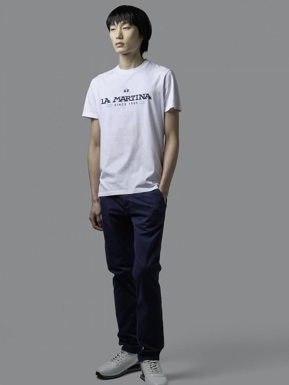 LA MARTINA Μπλούζα t-shirt 3LMRMR020-1 ΛΕΥΚΟ
