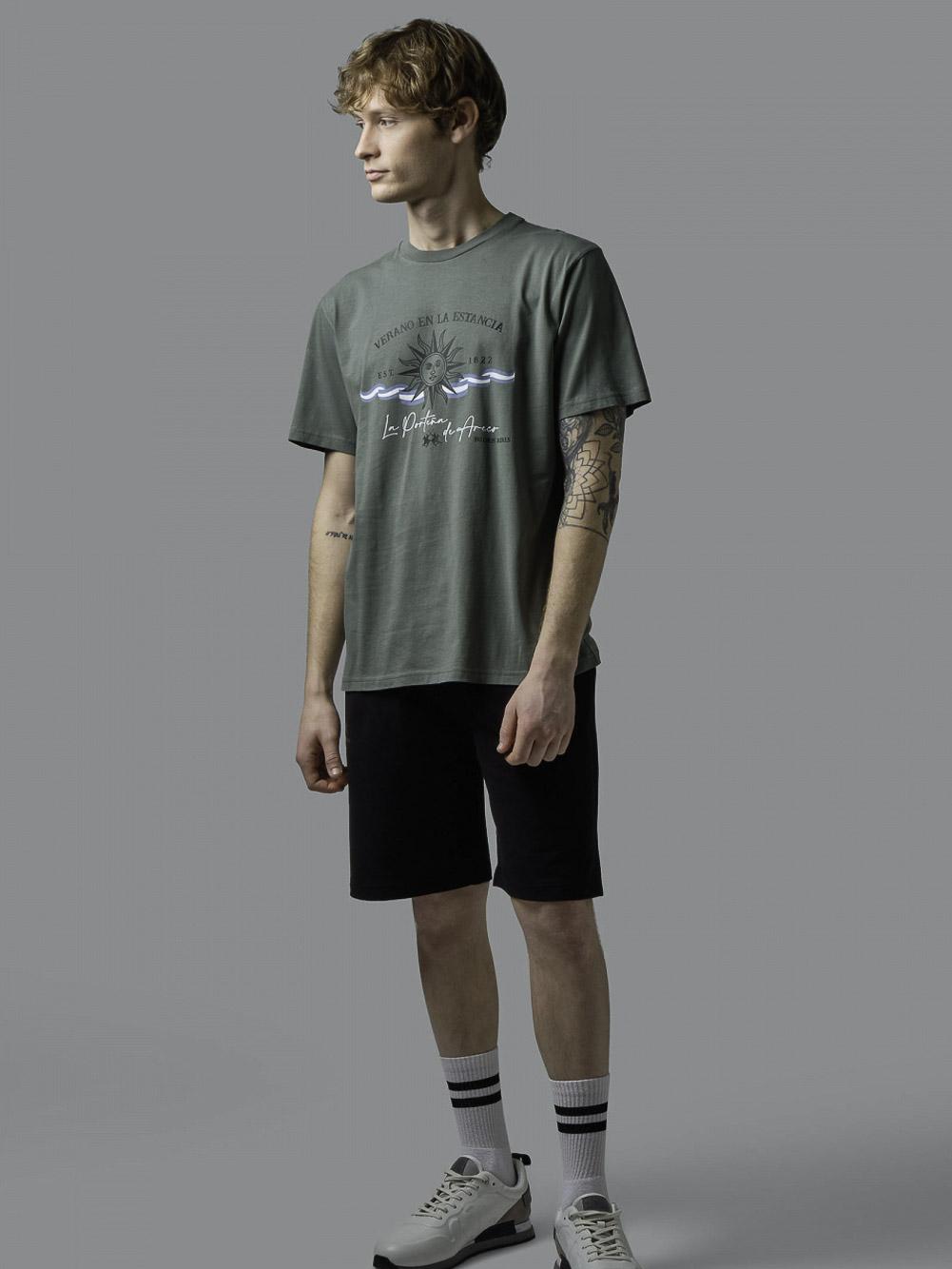 LA MARTINA Μπλούζα t-shirt 3LMRMR015-3208 ΠΡΑΣΙΝΟ