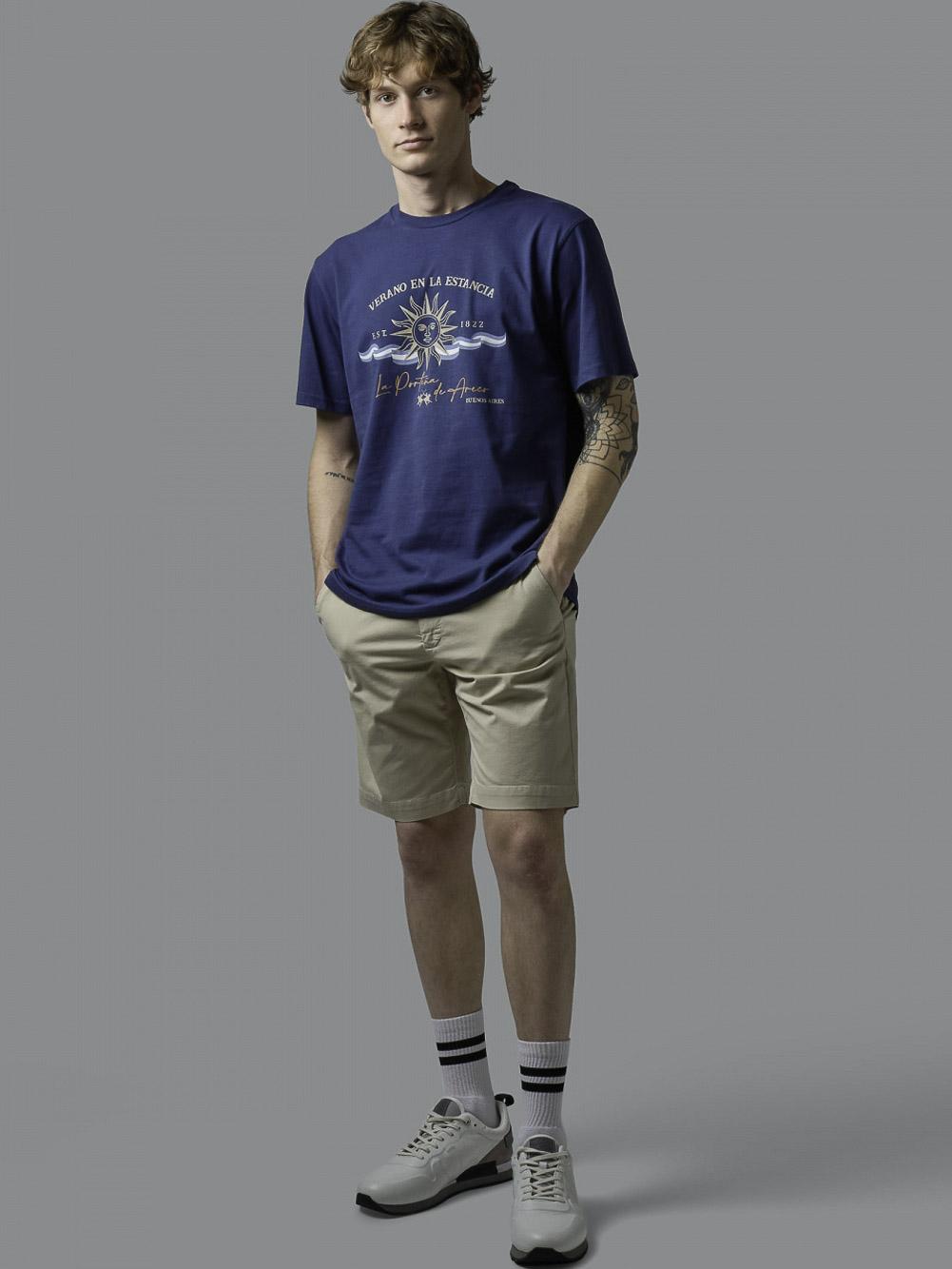 LA MARTINA Μπλούζα t-shirt 3LMRMR015-7048 ΡΑΦ