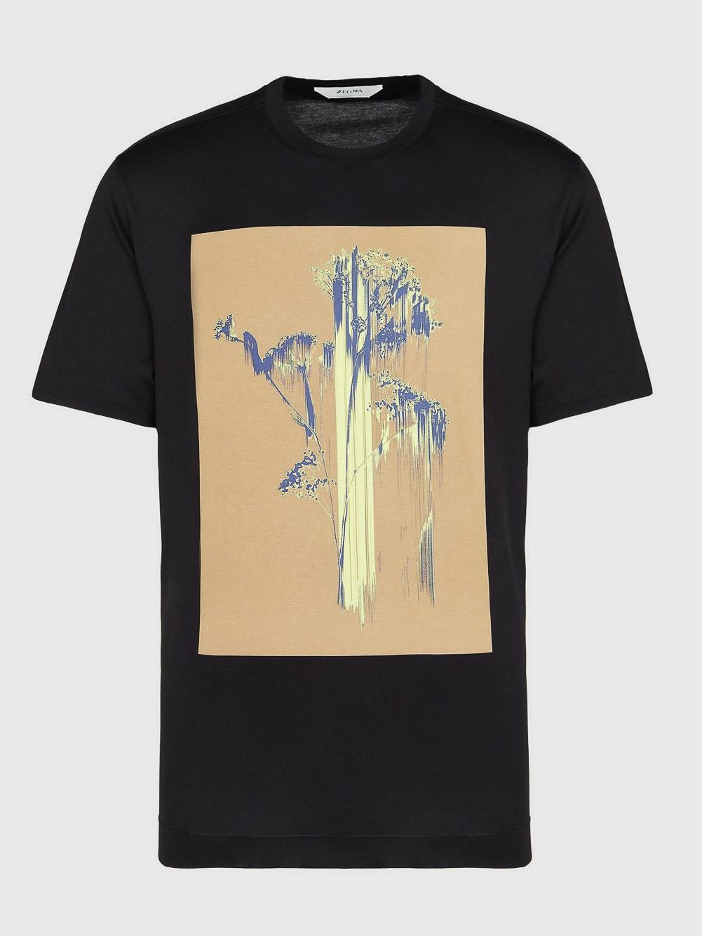 ZEGNA Μπλούζα Τ-shirt VW372 ZZ650H-6H3 ΜΑΥΡΟ