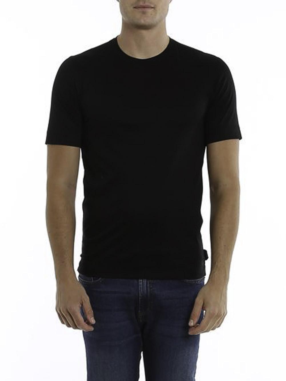 ZEGNA Μπλούζα Τ-shirt VW348 ZZ641-K09 ΜΑΥΡΟ