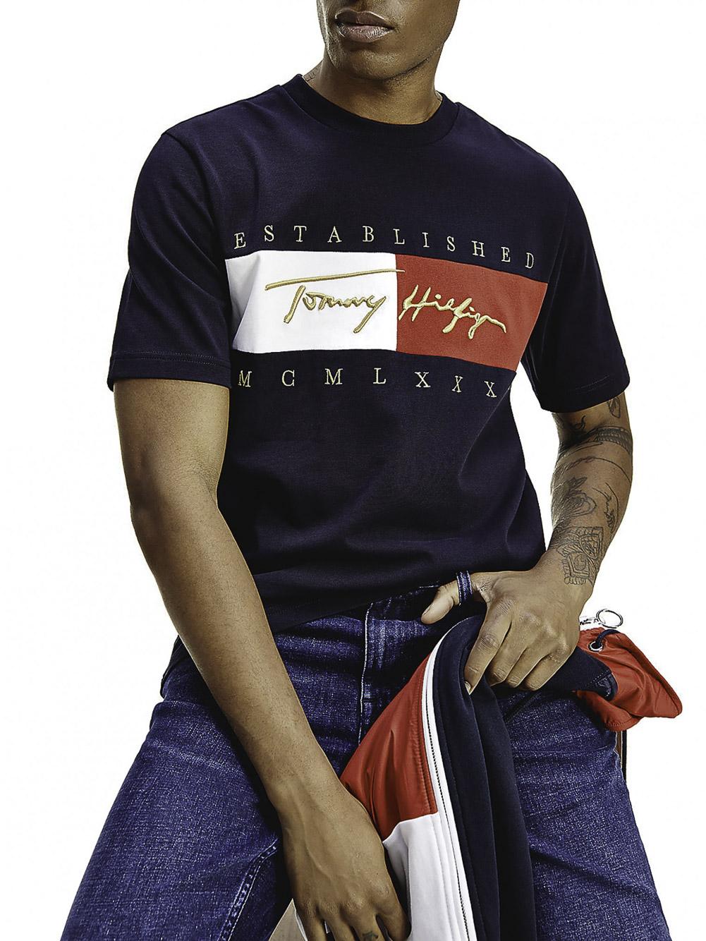 TOMMY HILFIGER Μπλούζα t-shirt MW0MW16598 ΜΠΛΕ