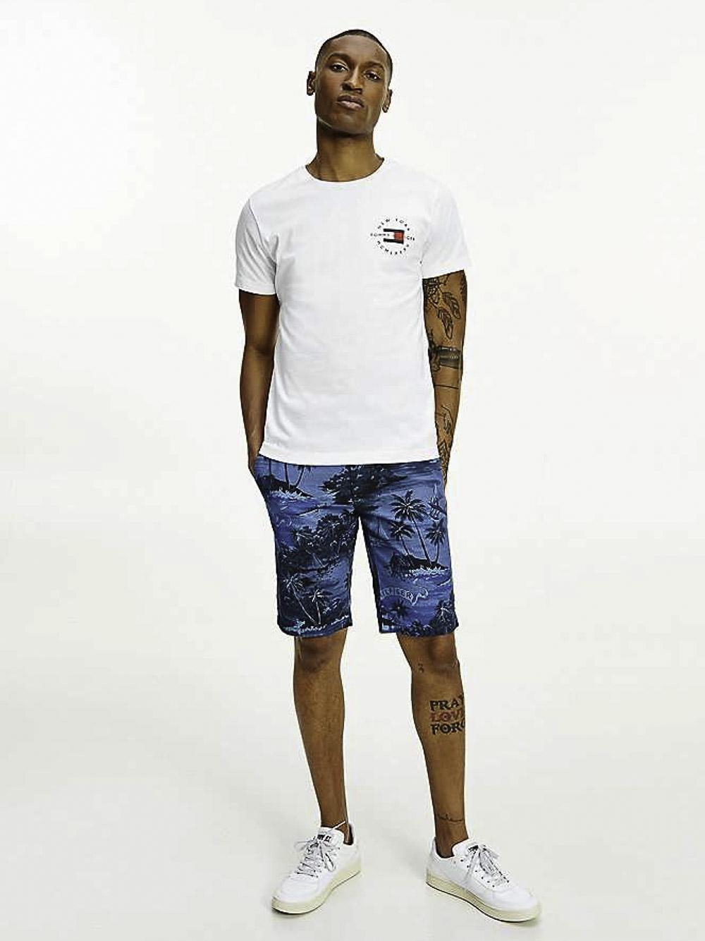 TOMMY HILFIGER Μπλούζα t-shirt MW0MW17680 ΛΕΥΚΟ