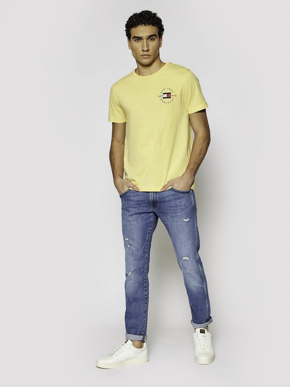 TOMMY HILFIGER Μπλούζα t-shirt MW0MW17680 ΚΙΤΡΙΝΟ